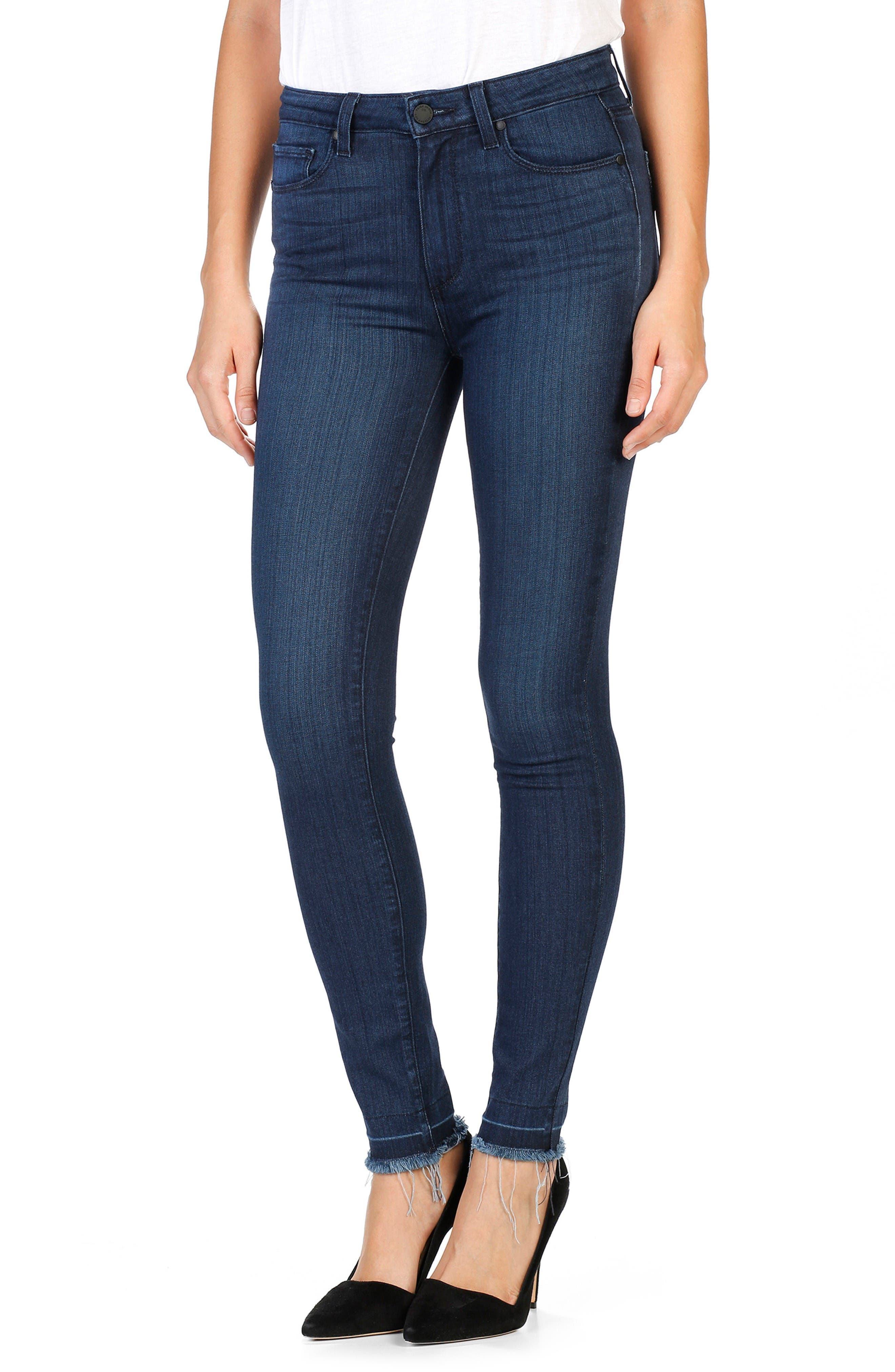 Main Image - PAIGE Hoxton Ankle Ultra Skinny Jeans (Henrietta)