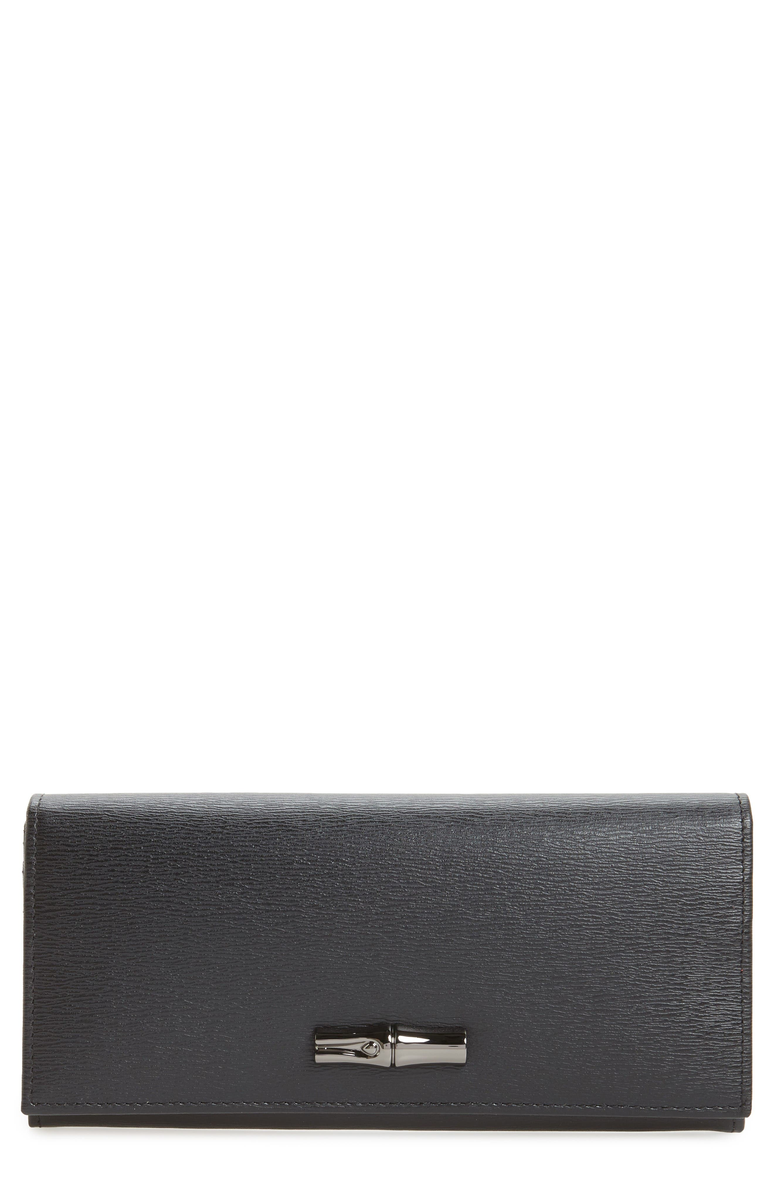 Longchamp Roseau Leather Continental Wallet