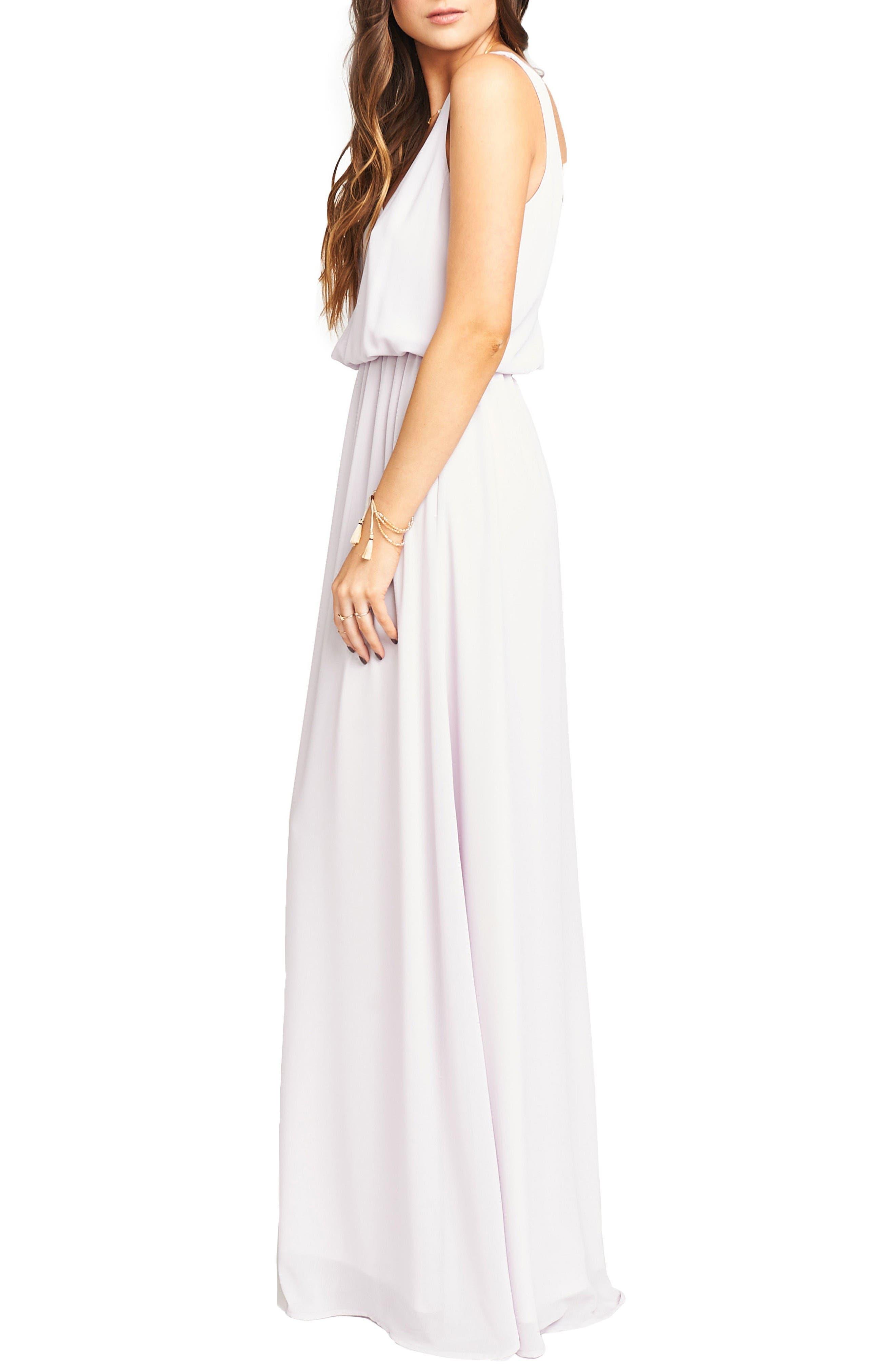 Alternate Image 3  - Show Me Your Mumu Kendall Soft V-Back A-Line Gown