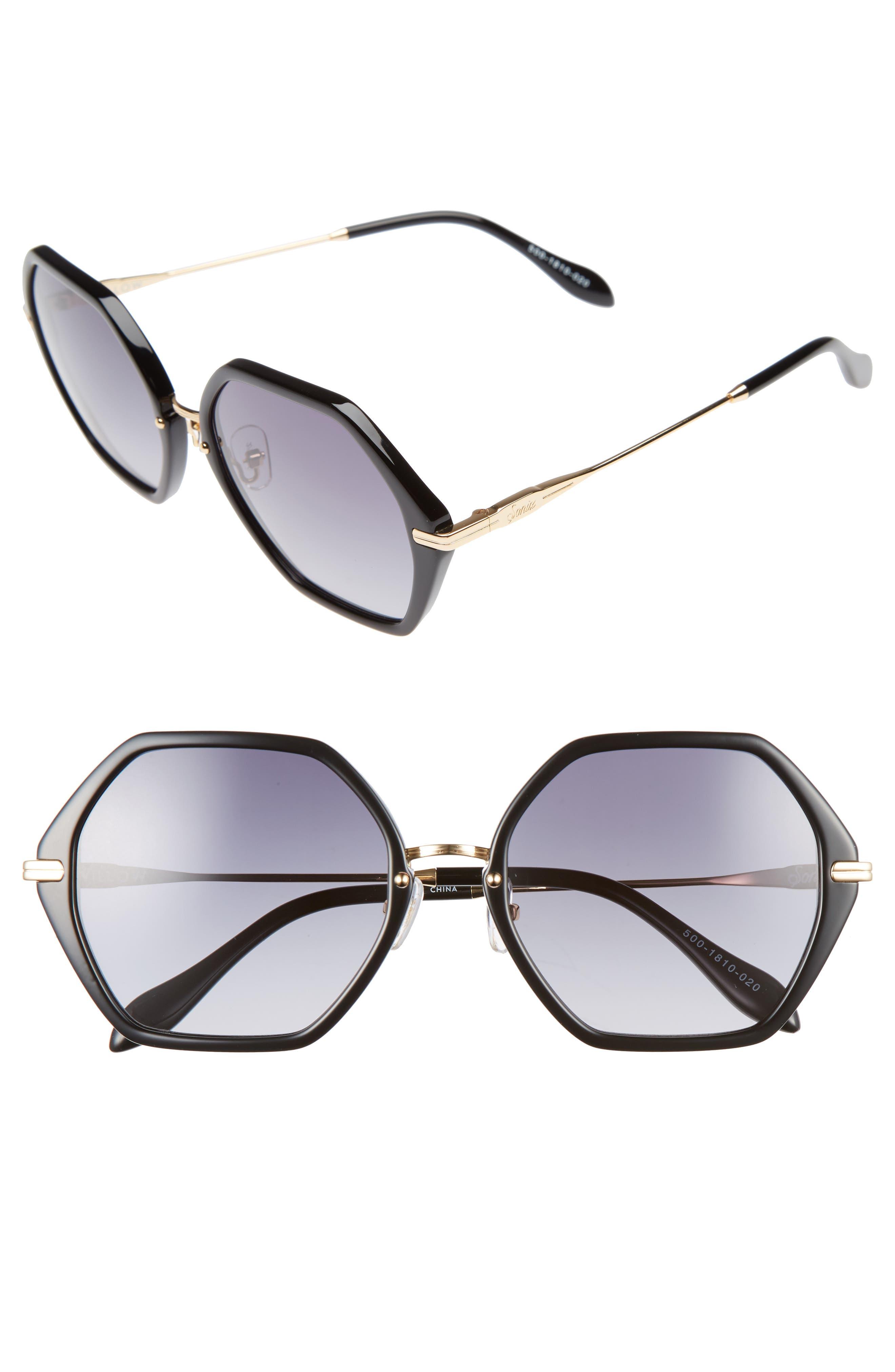Sonix Willow 55mm Octagon Sunglasses