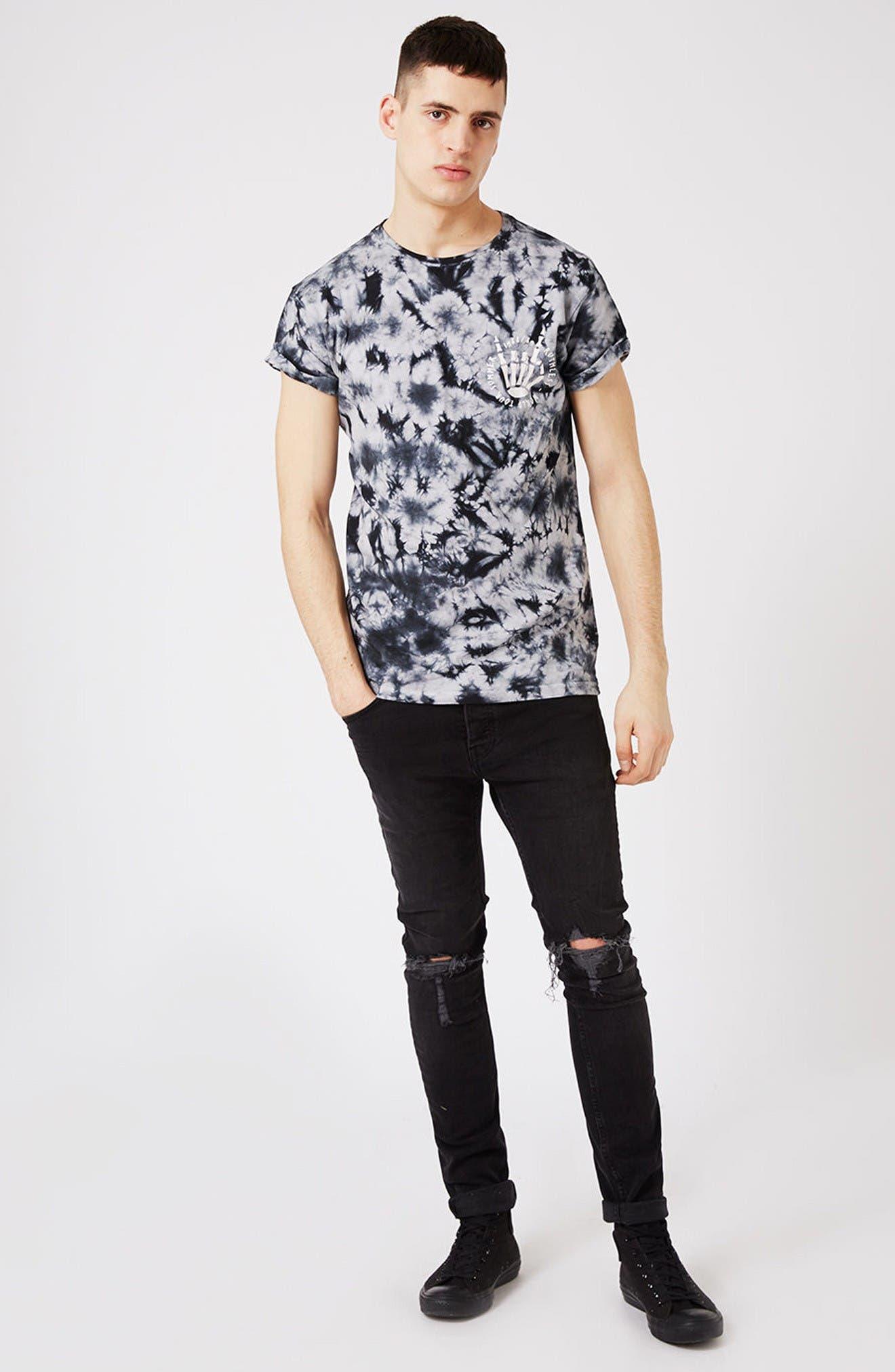 Alternate Image 2  - Topman Ruthless Graphic Tie Dye T-Shirt