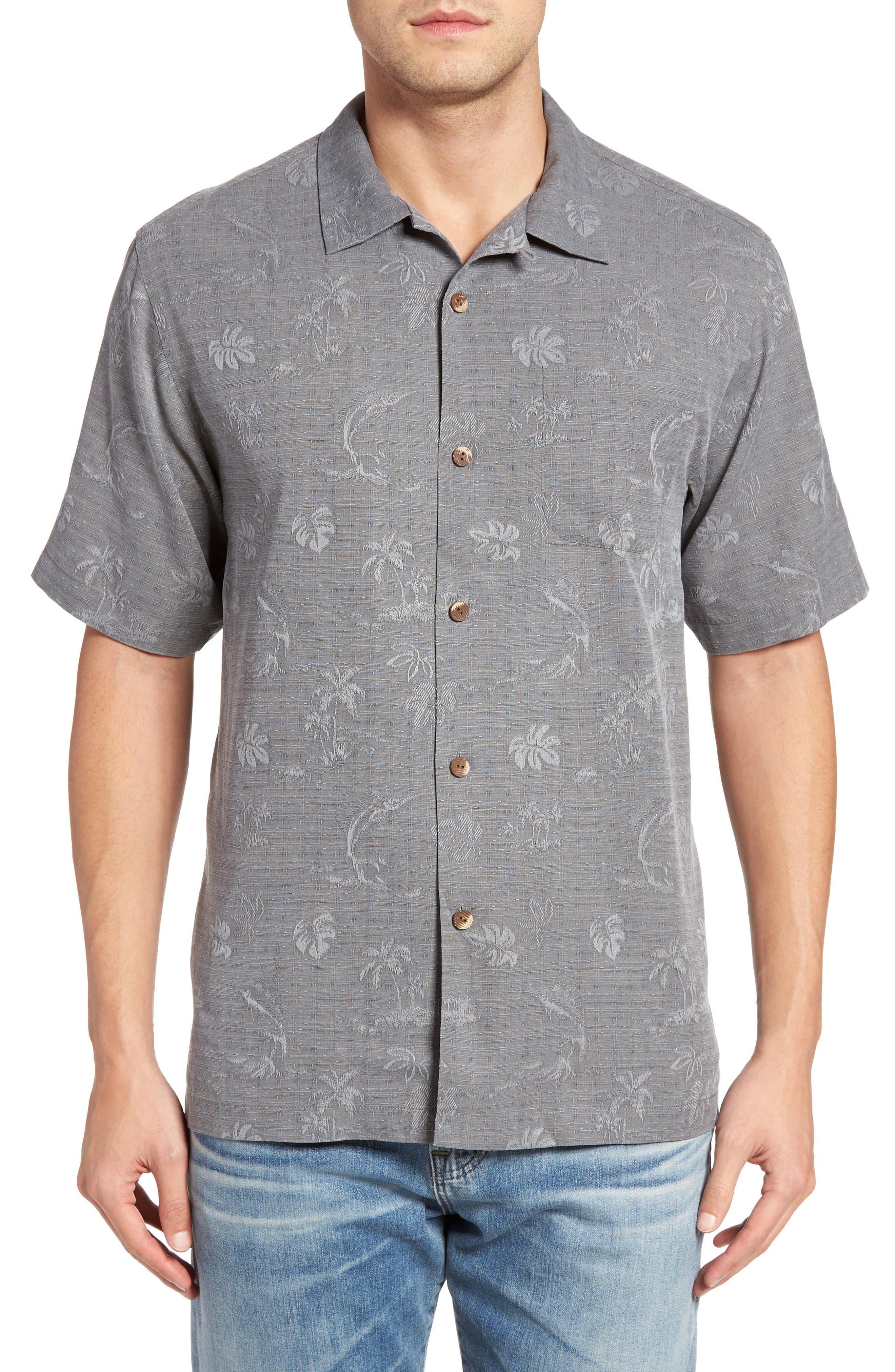 TOMMY BAHAMA Gulf Shore Marlin Silk Camp Shirt