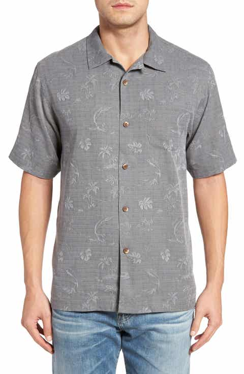 Tommy Bahama Gulf Shore Marlin Silk Camp Shirt (Big   Tall)