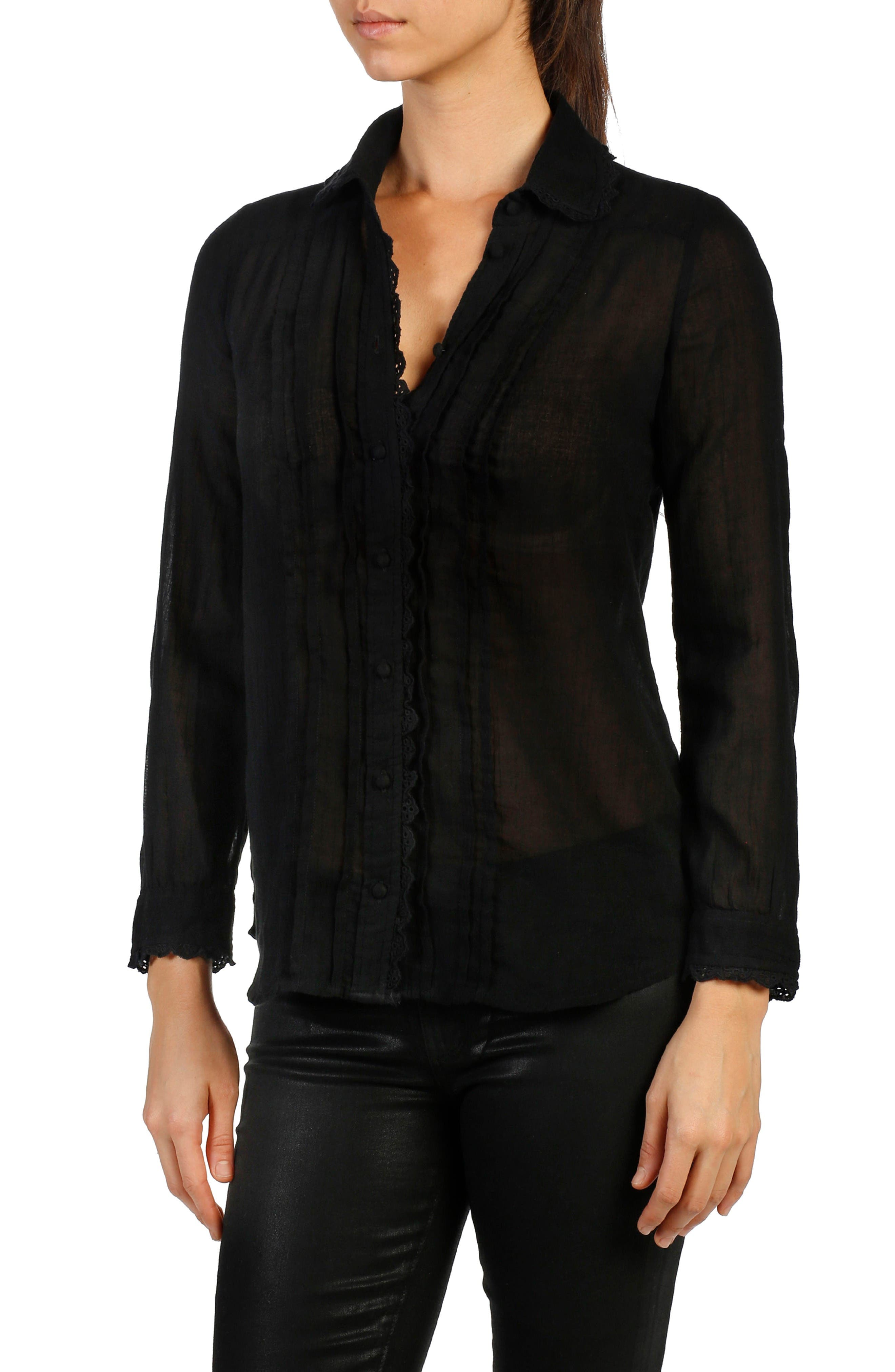 PAIGE Kyleigh Cotton Blouse