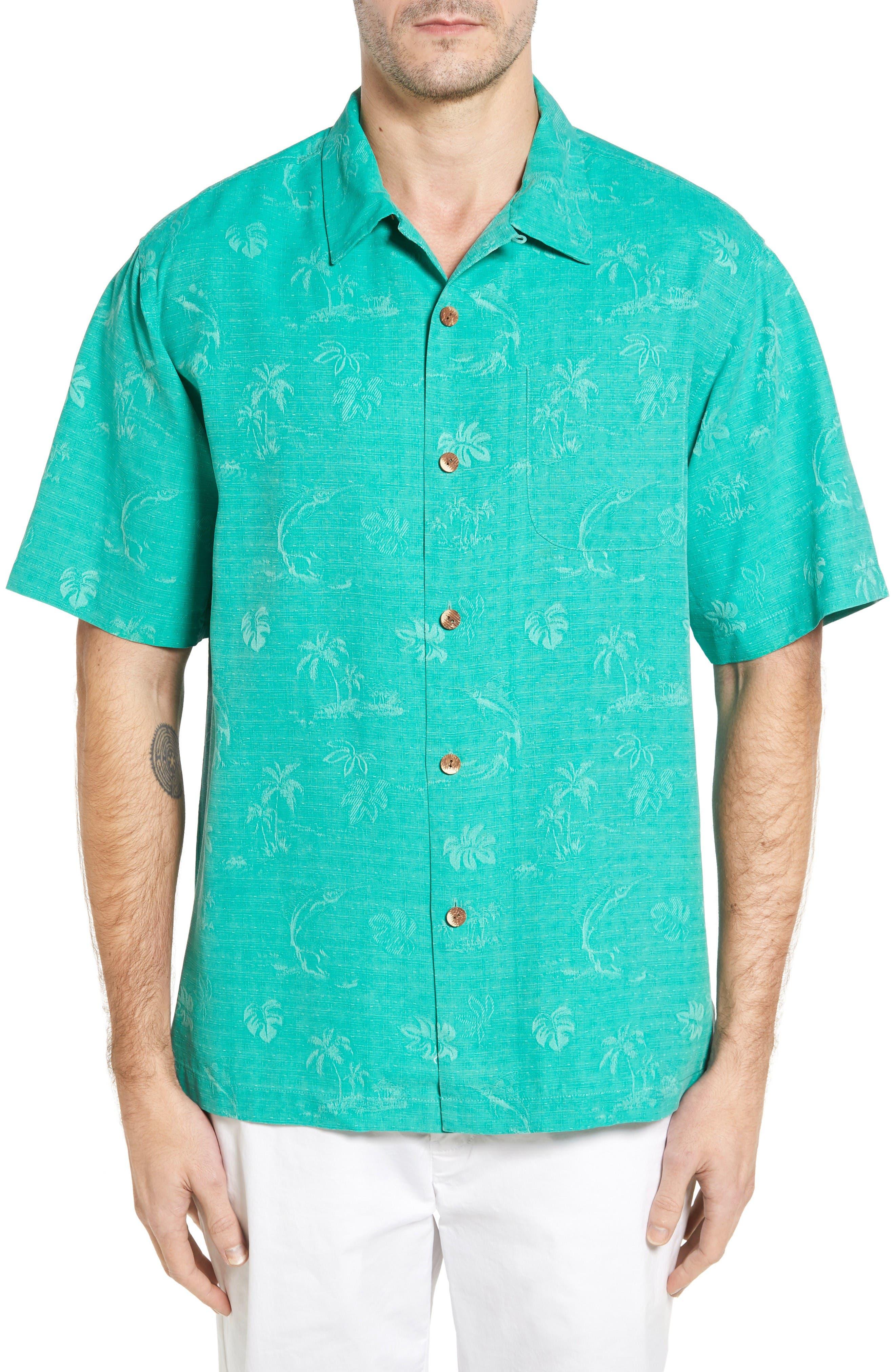 Tommy Bahama Gulf Shore Marlin Silk Camp Shirt (Big & Tall)