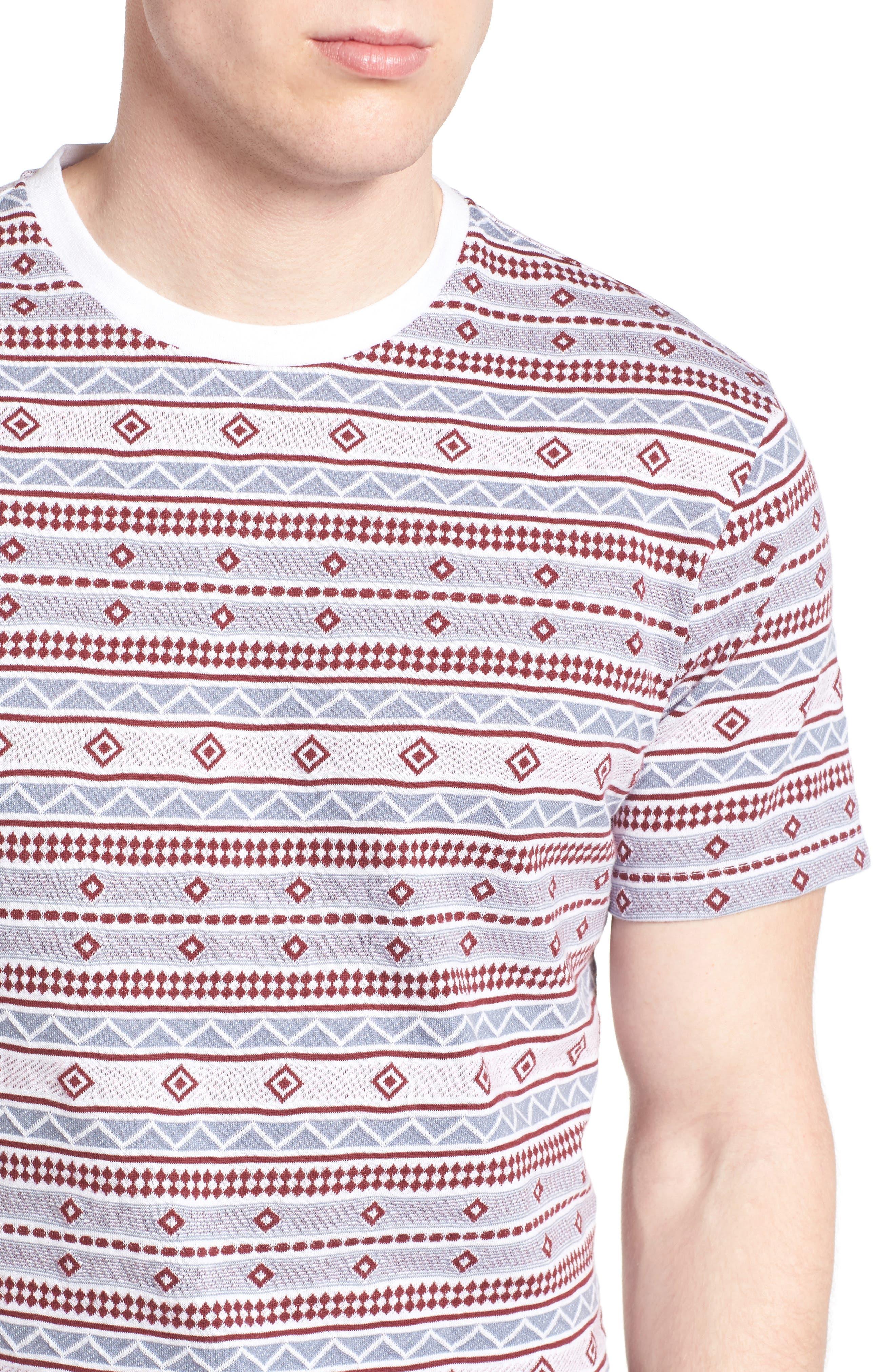 Alternate Image 4  - 1901 Geo Jacquard T-Shirt