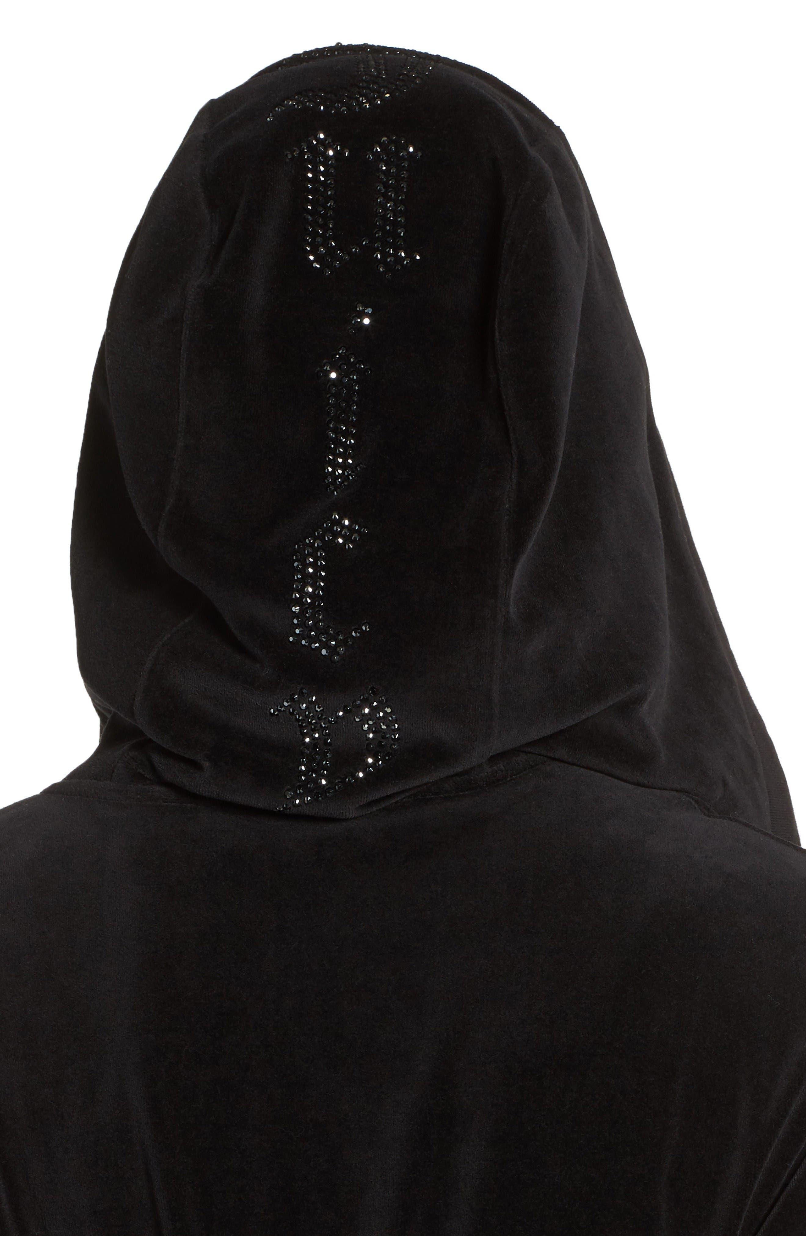 Alternate Image 4  - Juicy Couture Longline Velour Hoodie