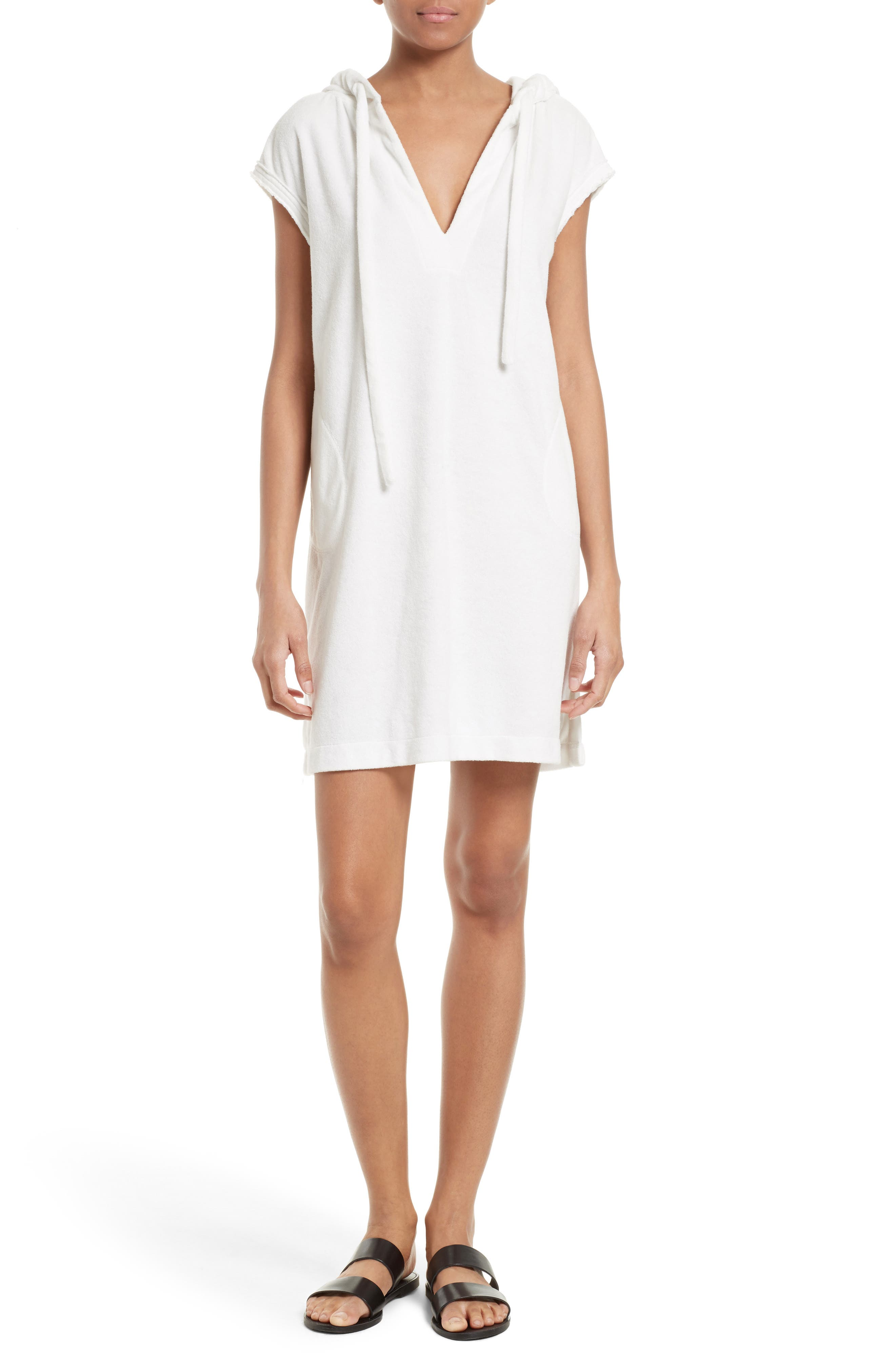 ATM Anthony Thomas Melillo Cotton Terry Hooded Dress