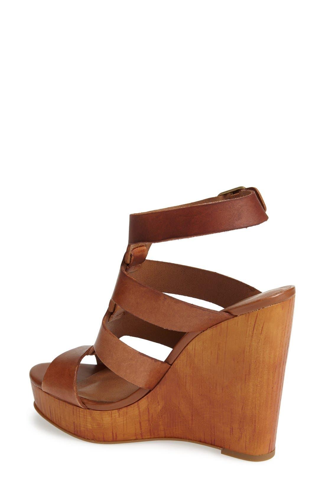 Alternate Image 2  - Lucky Brand 'Roselyn' Leather Caged Platform Sandal (Women)