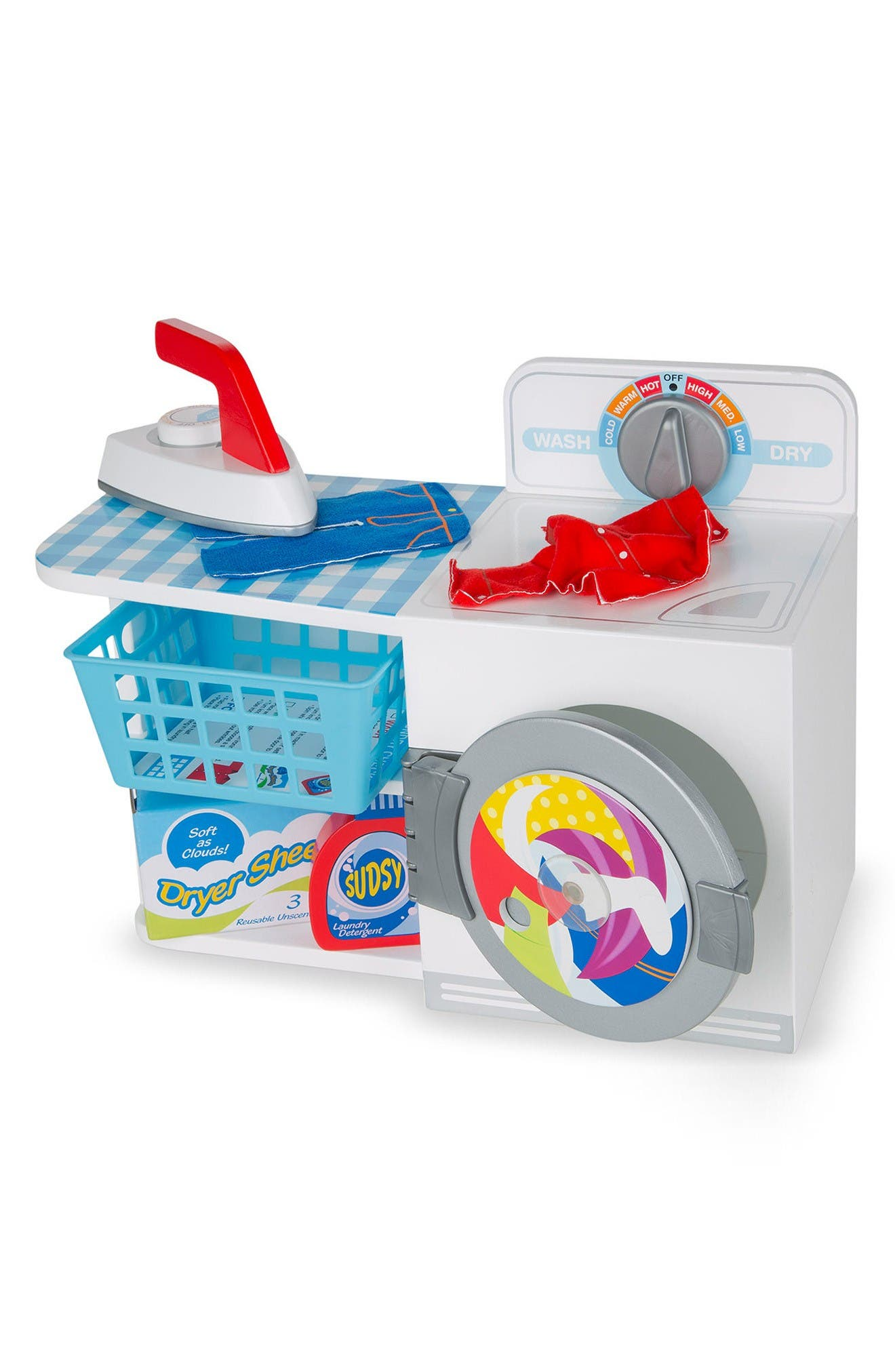 Melissa & Doug Let's Play House! Wash, Dry & Iron 8-Piece Play Set