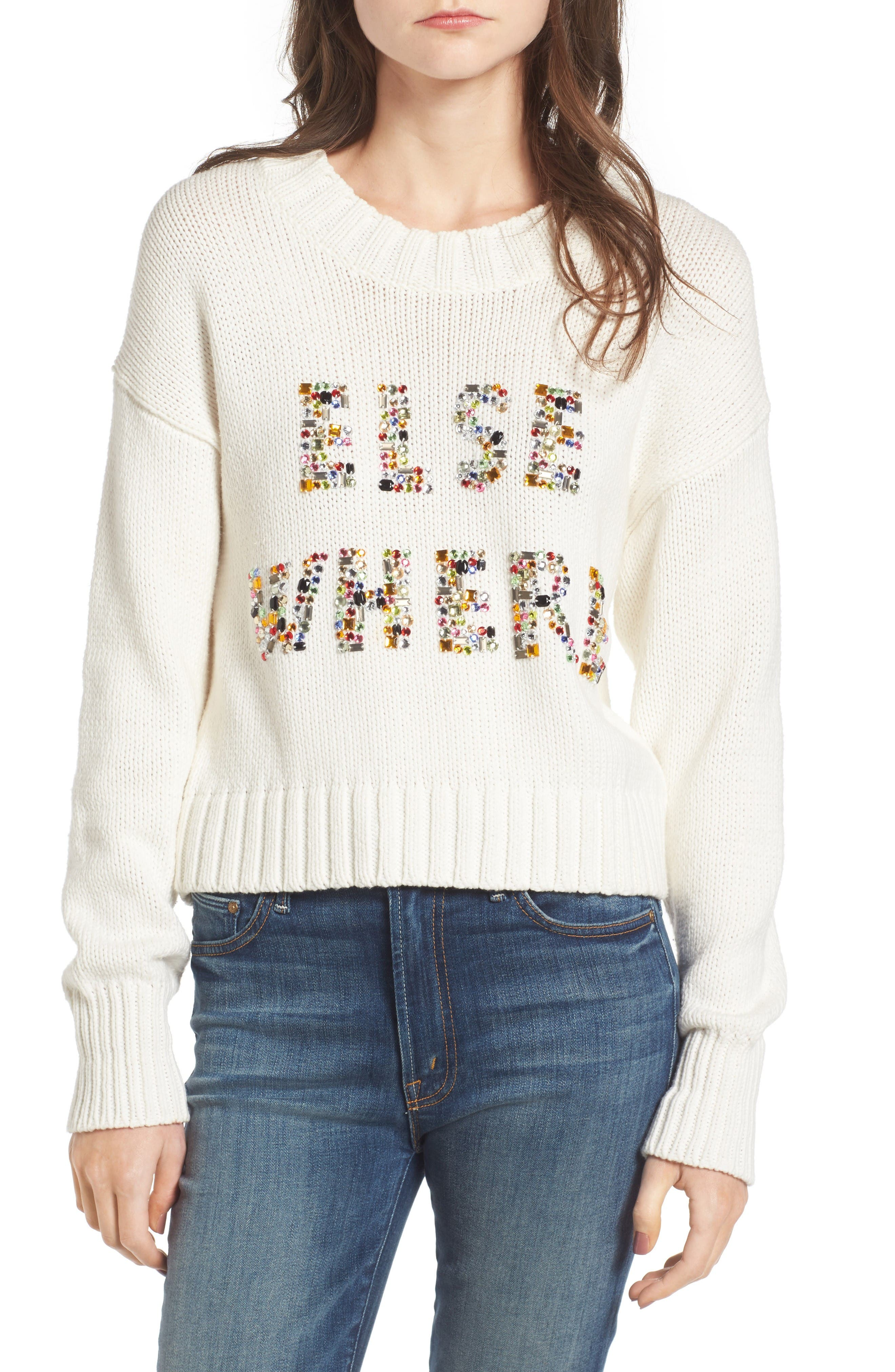 Wildfox Elsewhere Embellished Sweater