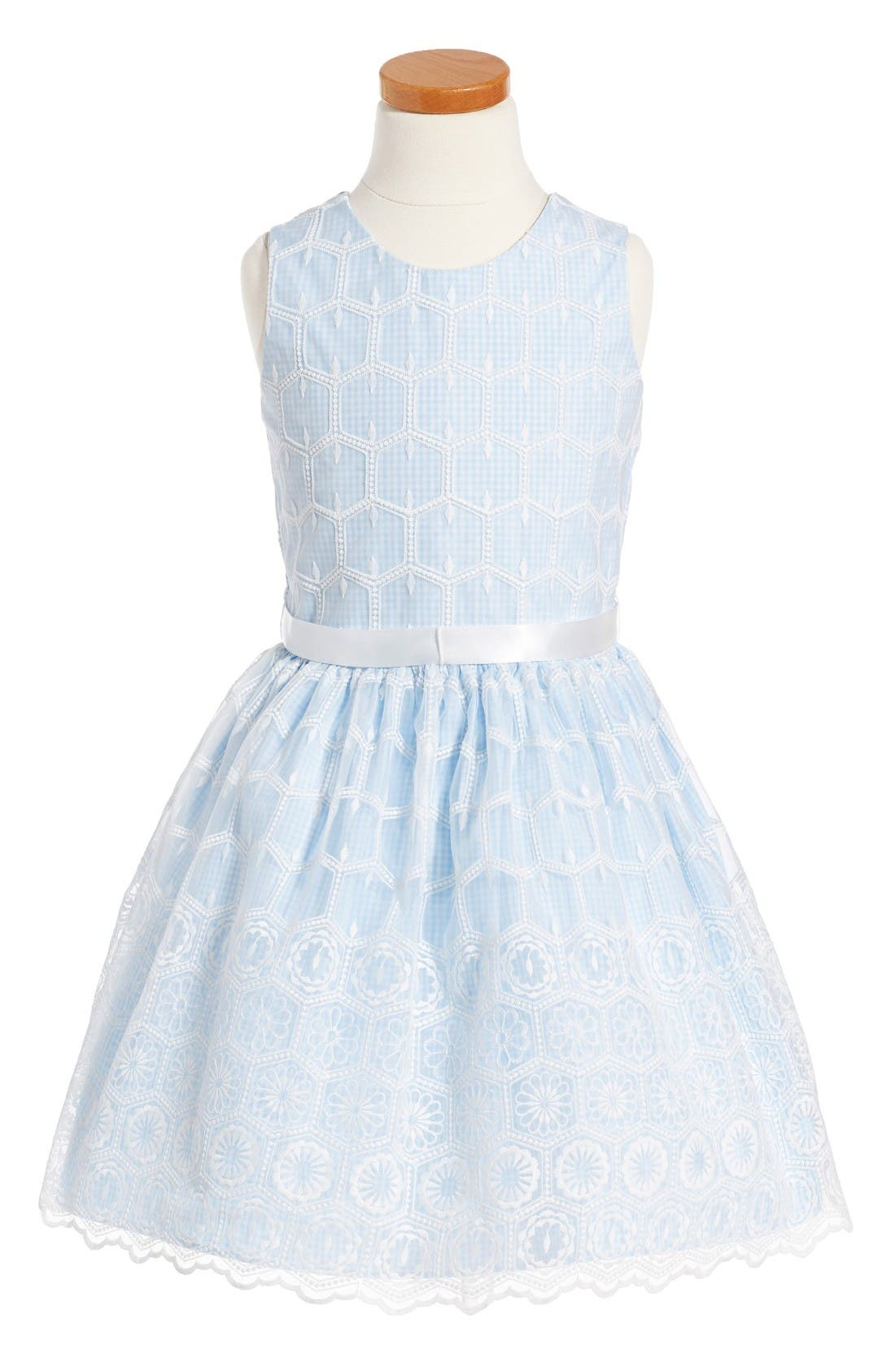 PIPPA & JULIE Gingham Embroidered Dress