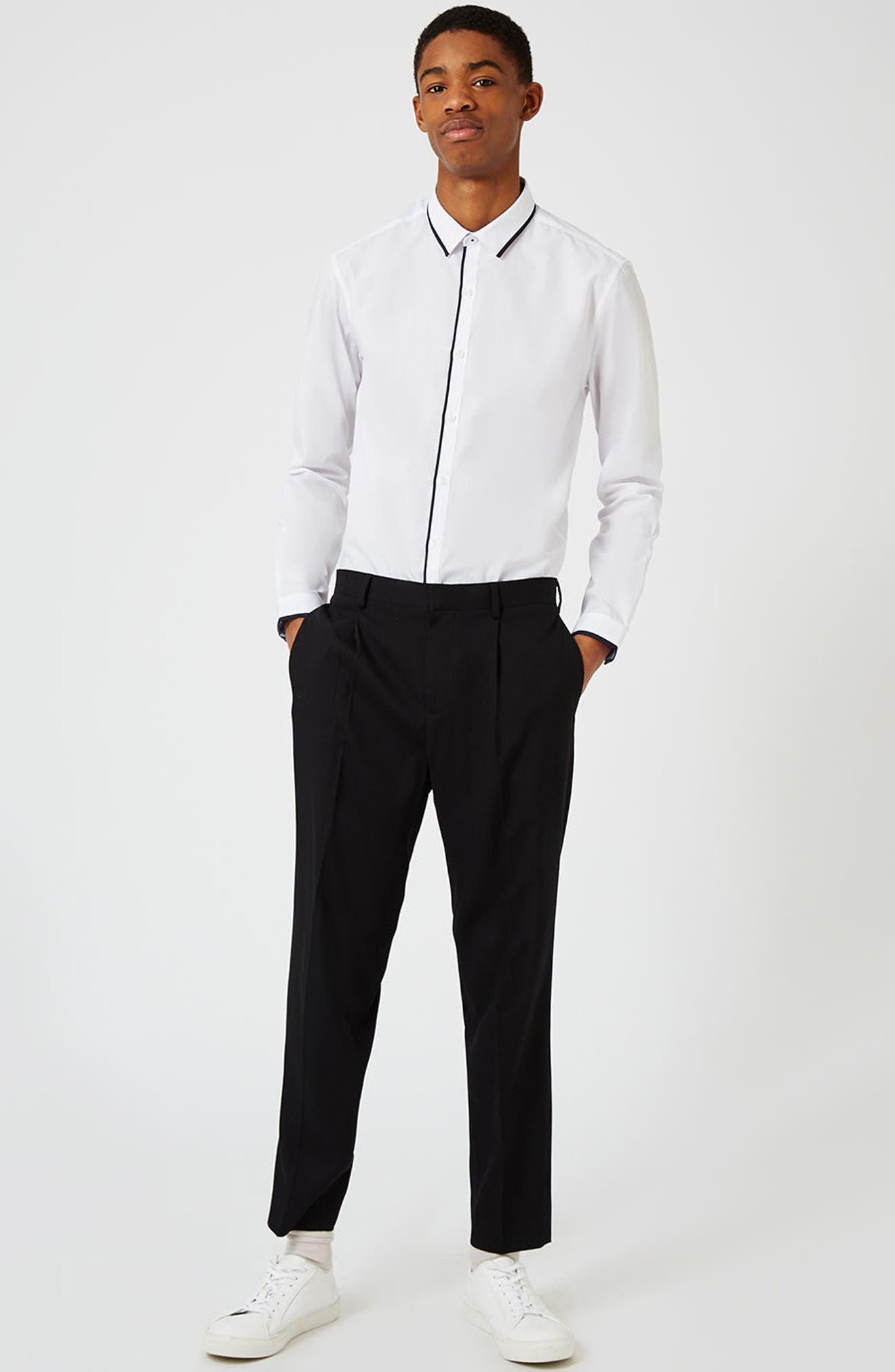 Alternate Image 3  - Topman White Contrast Dress Shirt