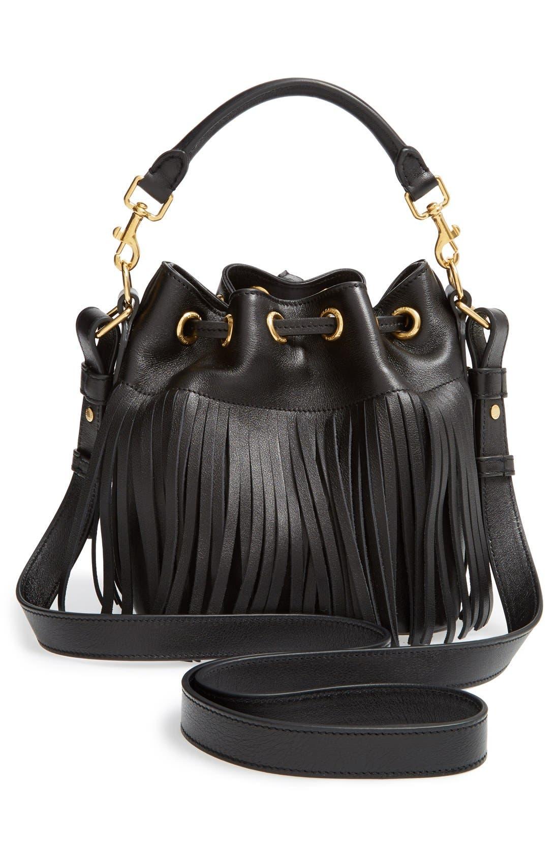 Alternate Image 6  - Saint Laurent Fringe Calfskin Bucket Bag