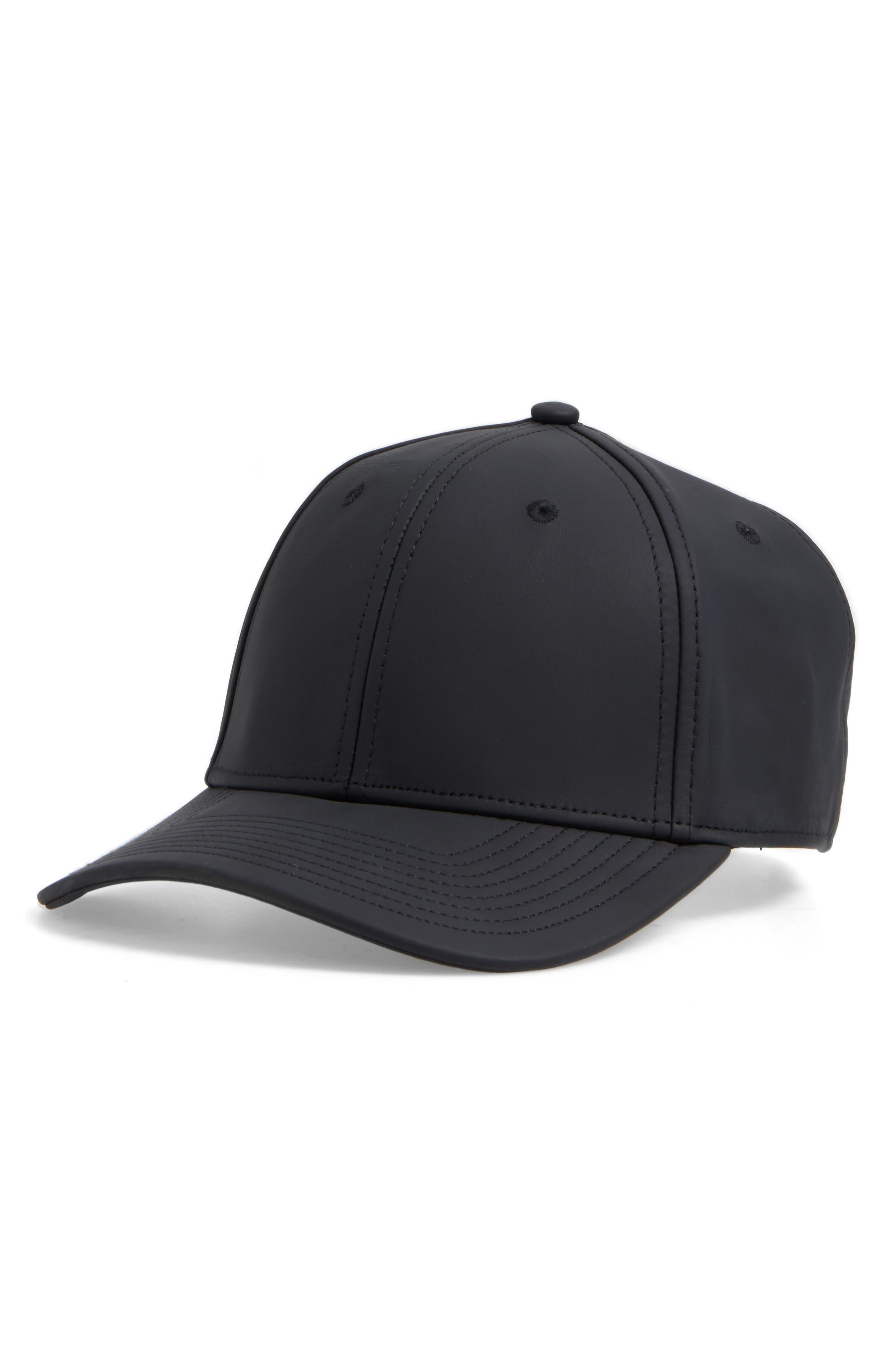 rag & bone Leather Baseball Cap