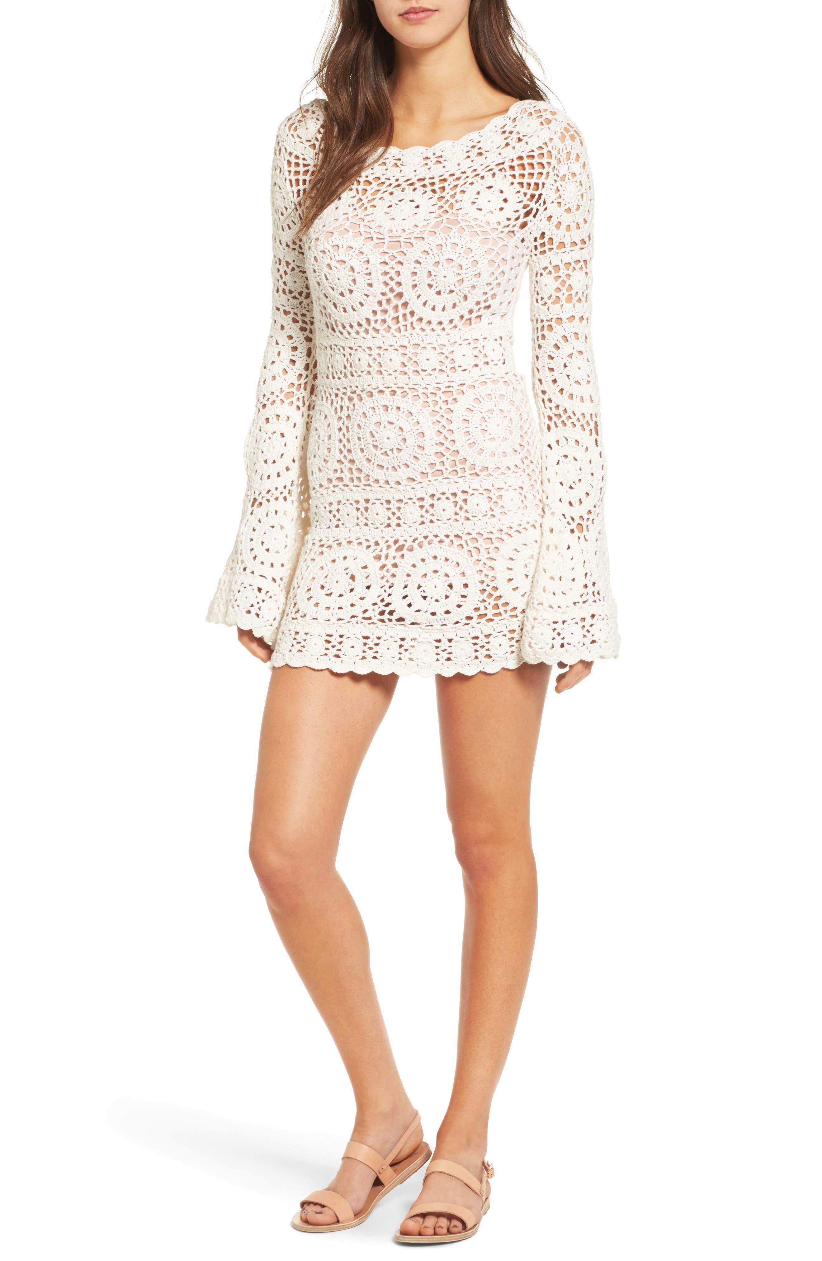 Alternate Image 1 Selected - Majorelle Harvest Crochet Minidress