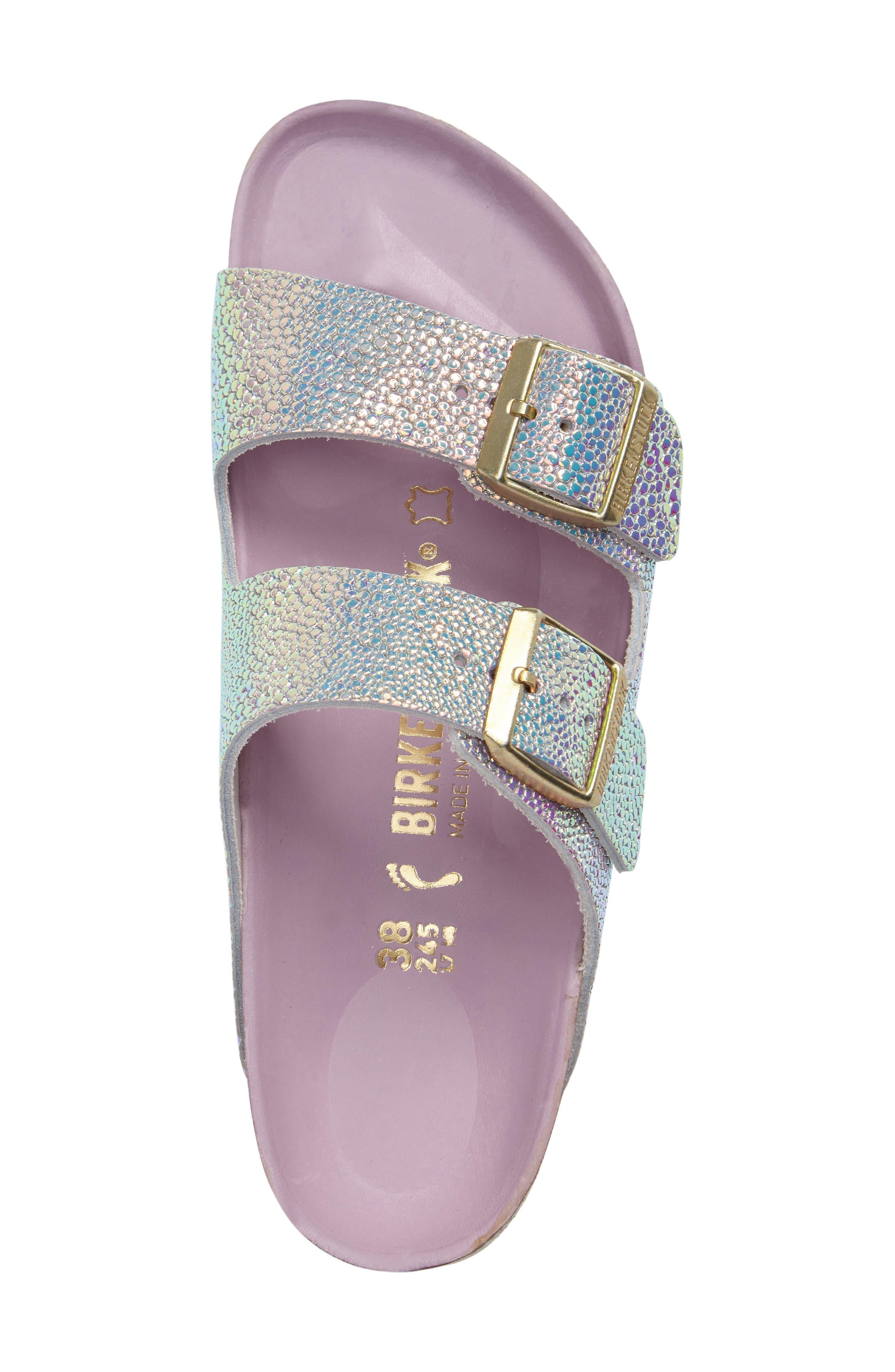 Alternate Image 5  - Birkenstock Arizona Lux Iridescent Slide Sandal (Women)