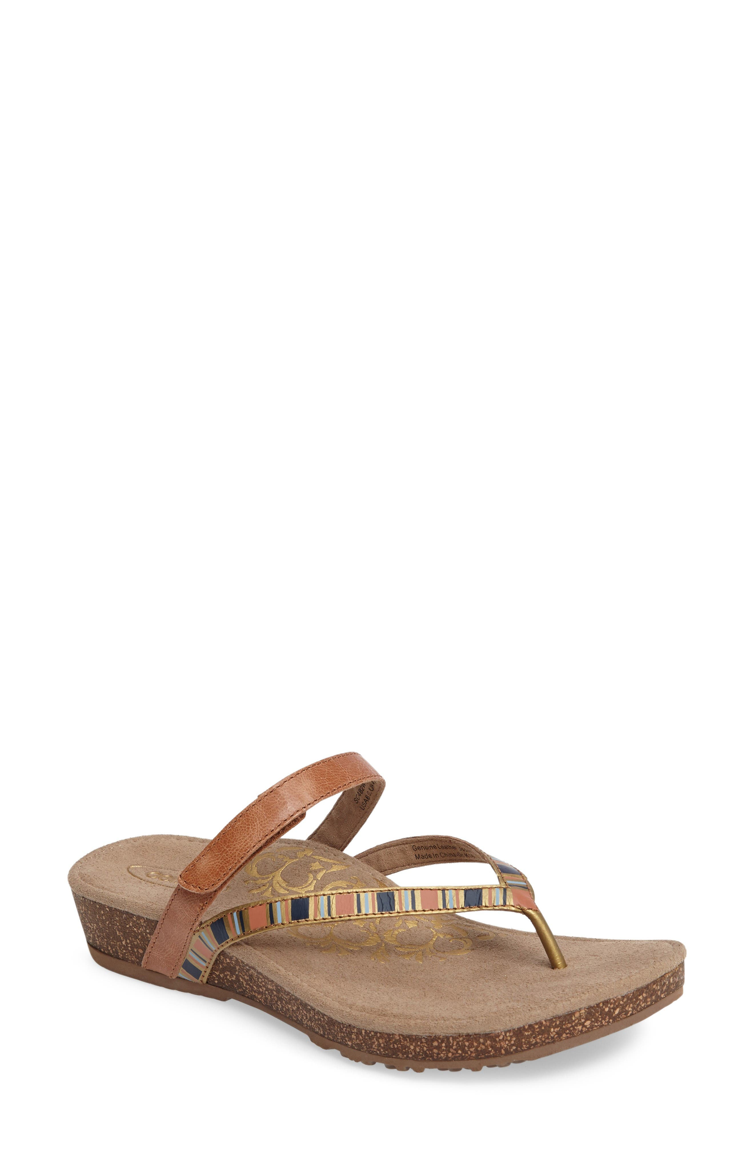 Aetrex Elia Wedge Flip Flop (Women)