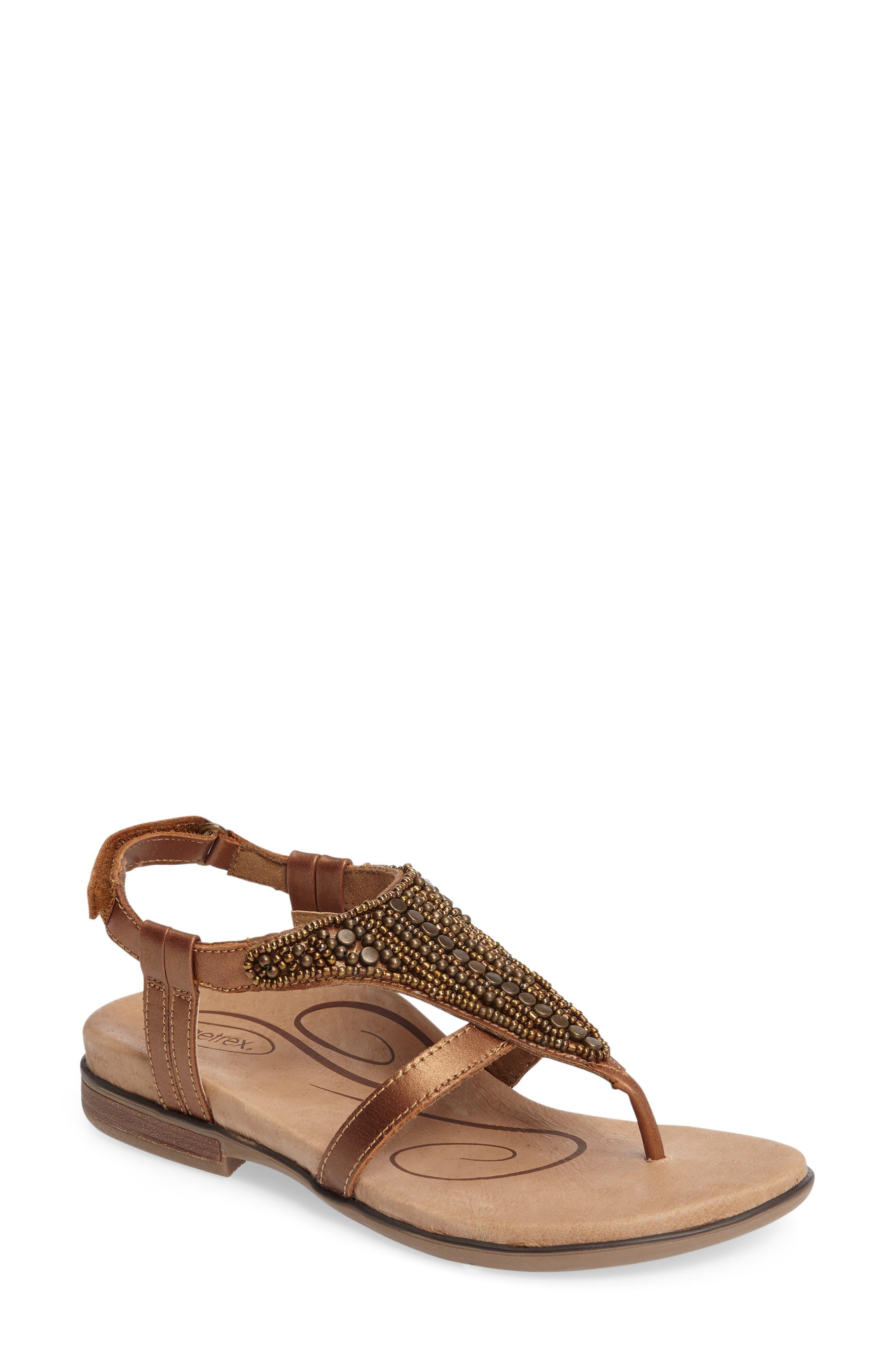 Aetrex Sheila Embellished Sandal (Women)