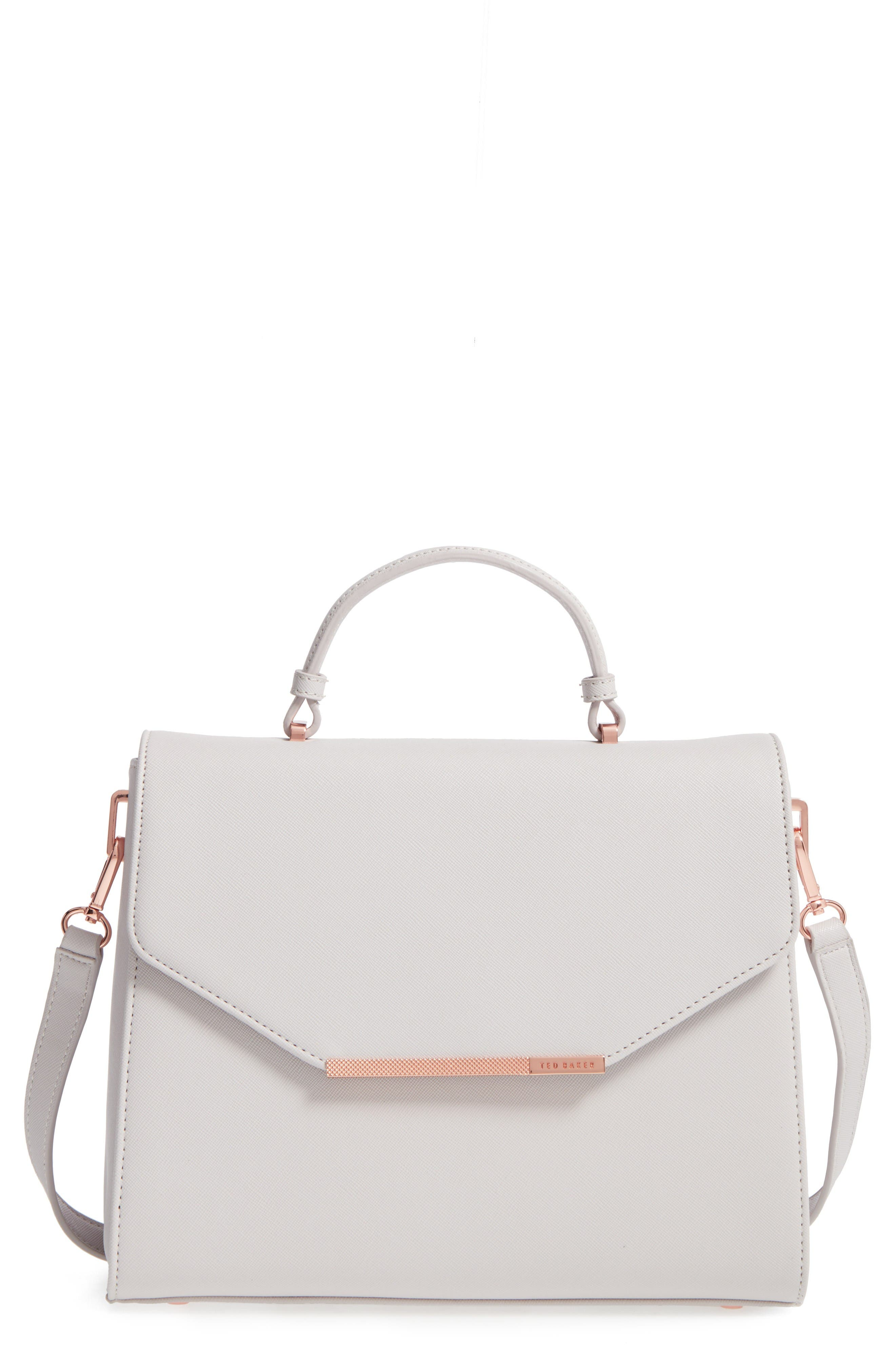 Alternate Image 1 Selected - Ted Baker London Large Faux Leather Top Handle Satchel