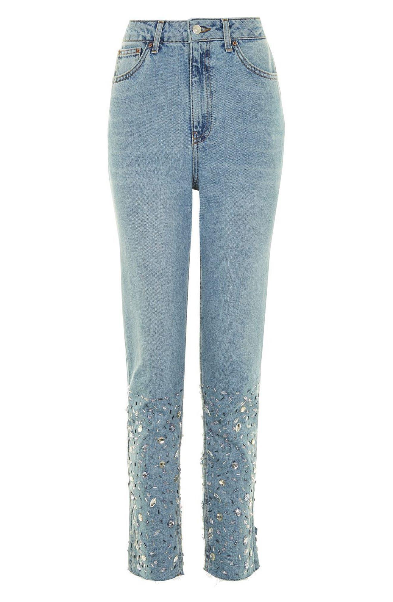 Alternate Image 3  - Topshop Gemstone Mom Jeans