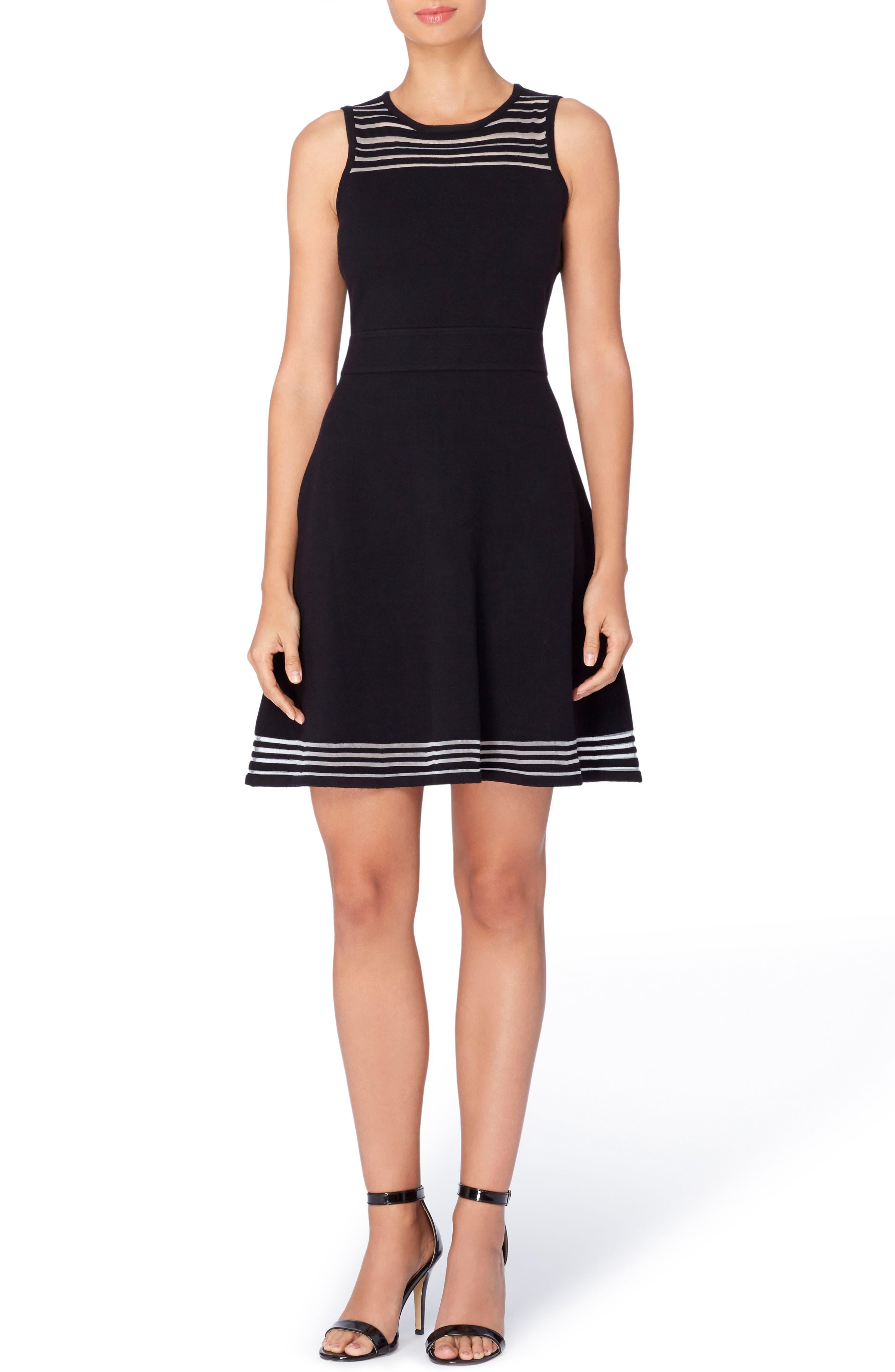 Catherine Catherine Malandrino Niro Sheer Stripe Dress