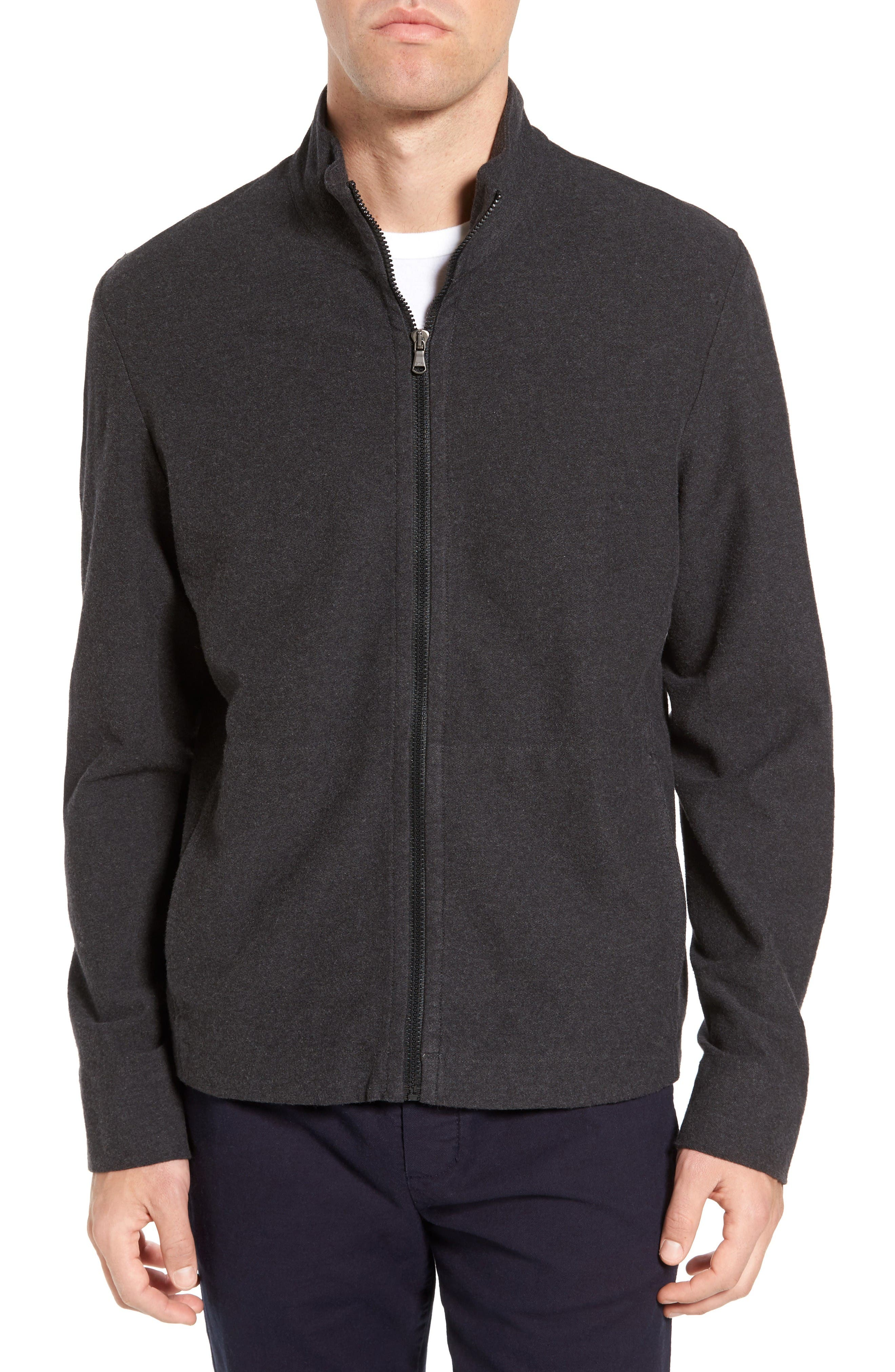 James Perse Zip-Up Heathered Knit Jacket