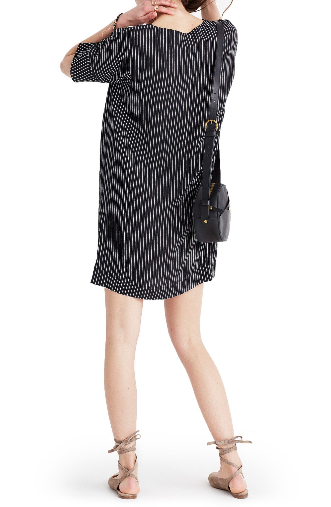 Alternate Image 2  - Madewell Novel Chalkboard Stripe Dress
