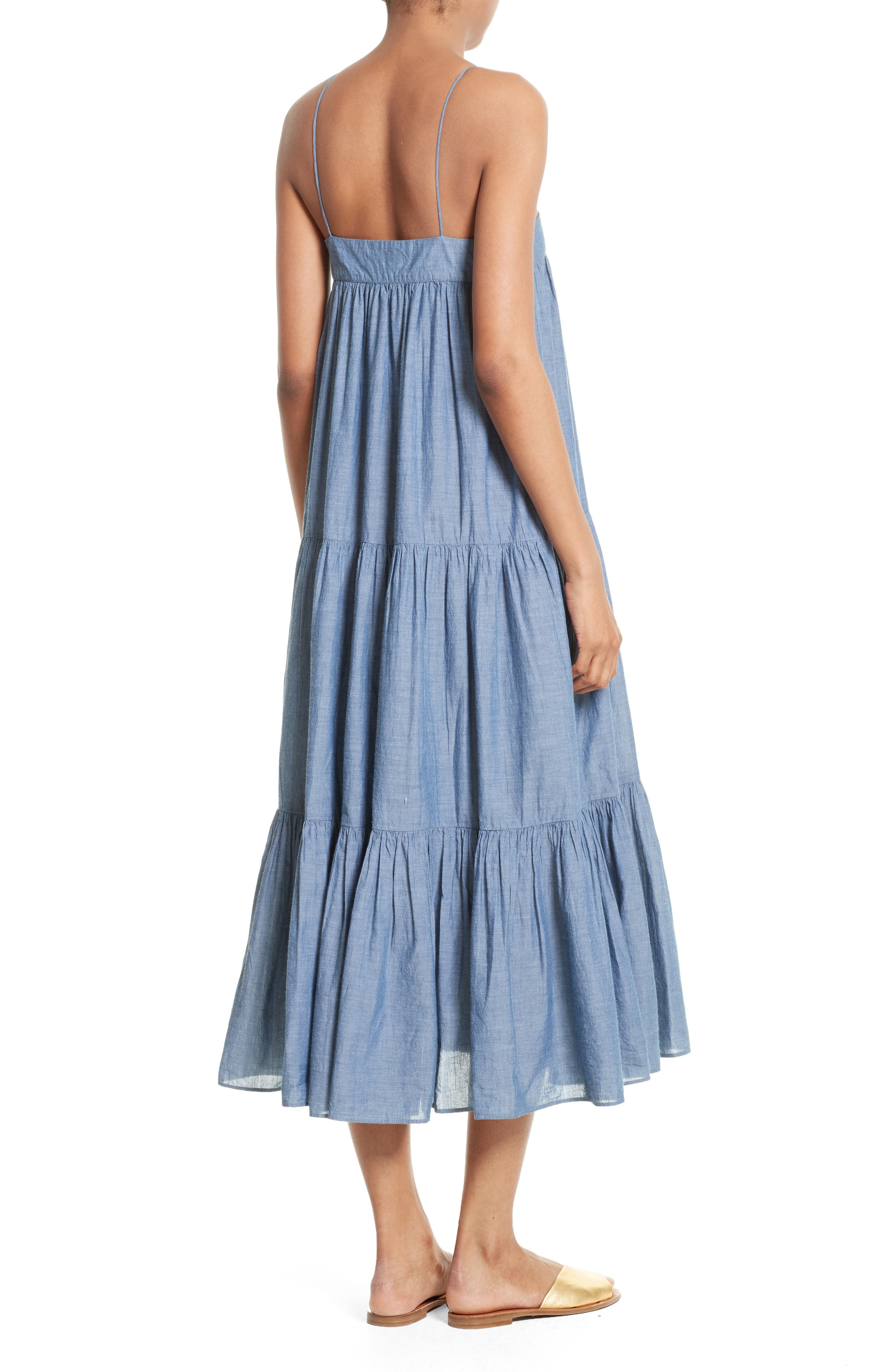 Alternate Image 2  - Apiece Apart Tangiers Chambray Dress