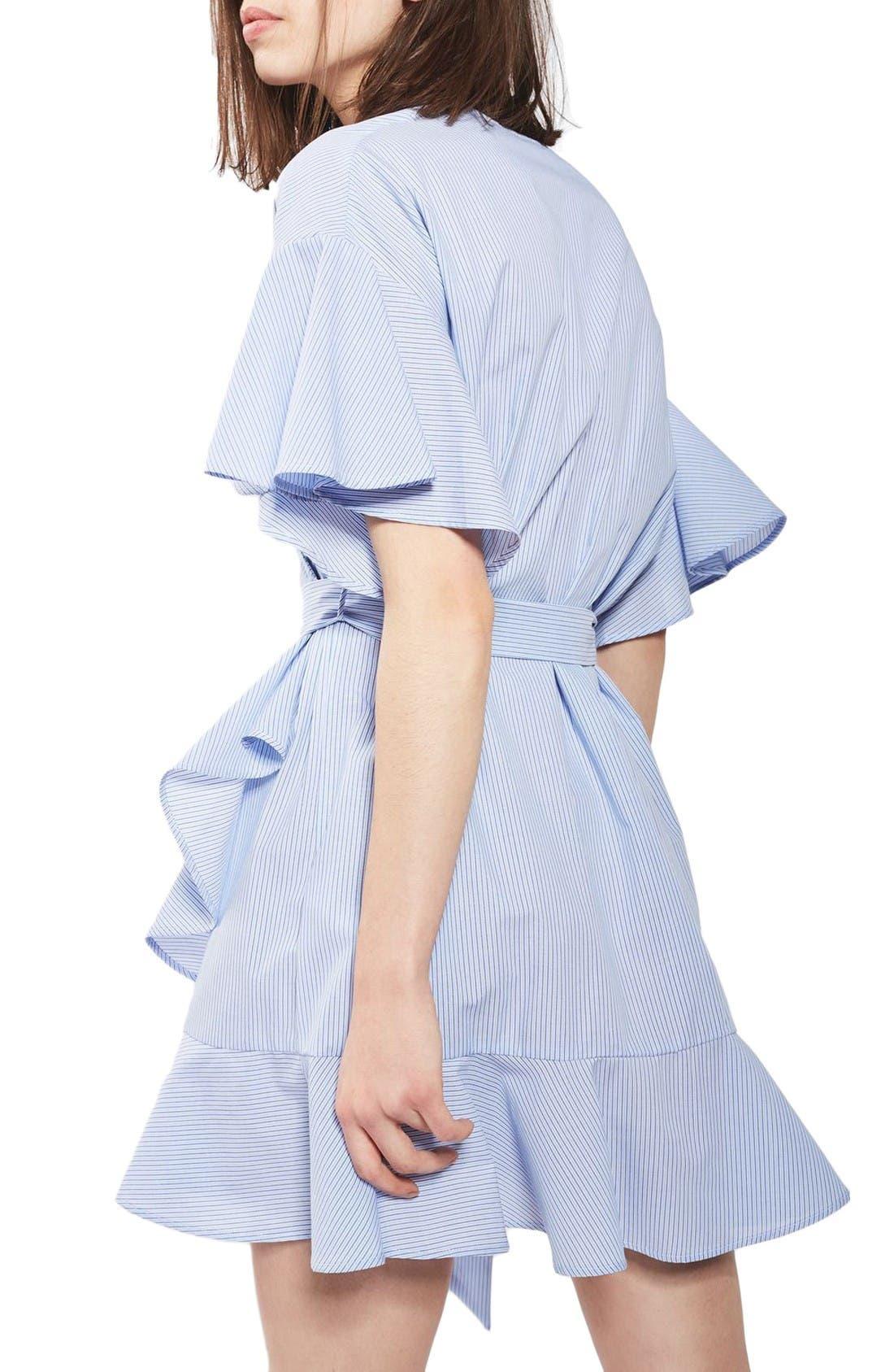 Alternate Image 2  - Topshop Stripe Wrap Dress