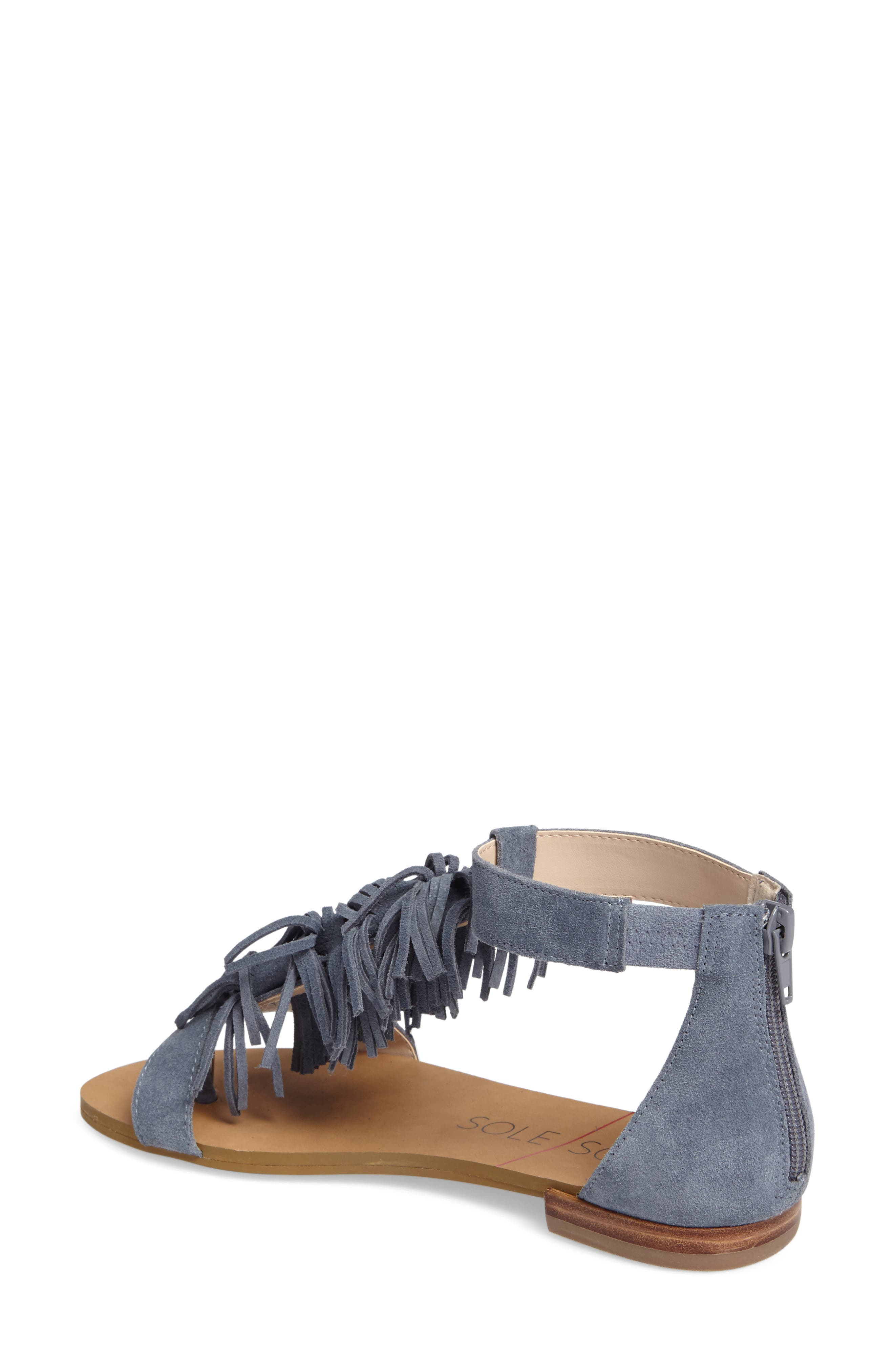 Alternate Image 2  - Sole Society Koa Fringed T-Strap Sandal (Women)