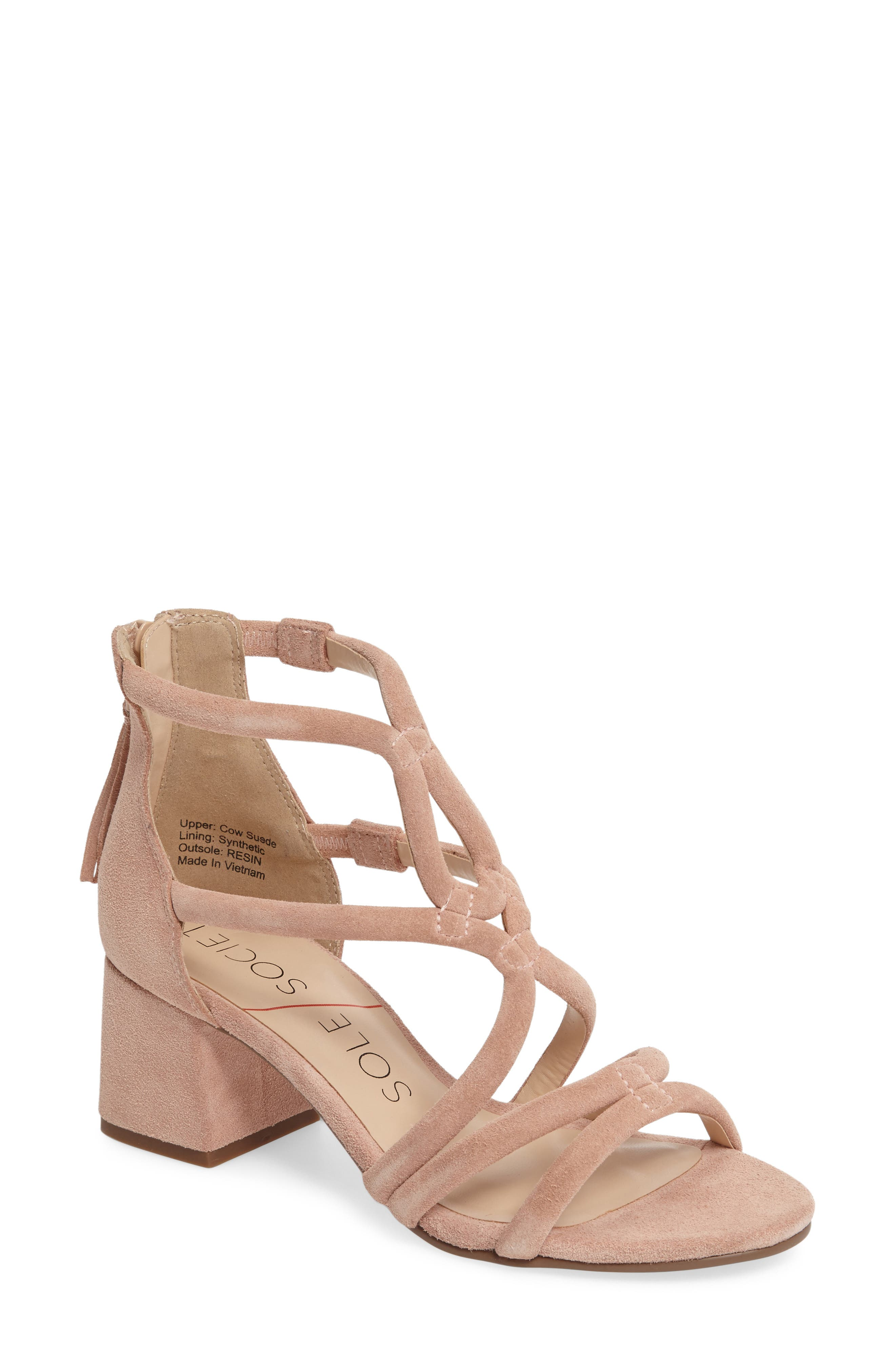 Sole Society Jenina Block Heel Sandal (Women)