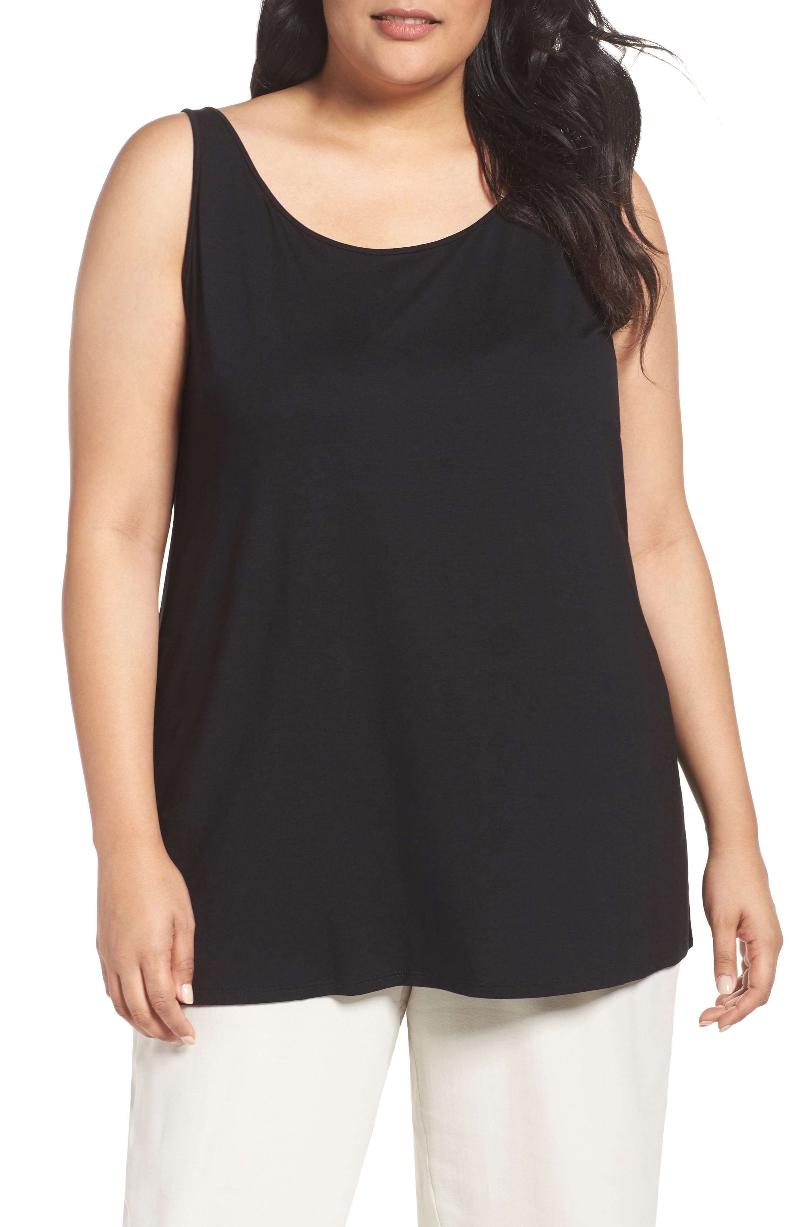 Eileen Fisher Lightweight Jersey Tank (Plus Size)