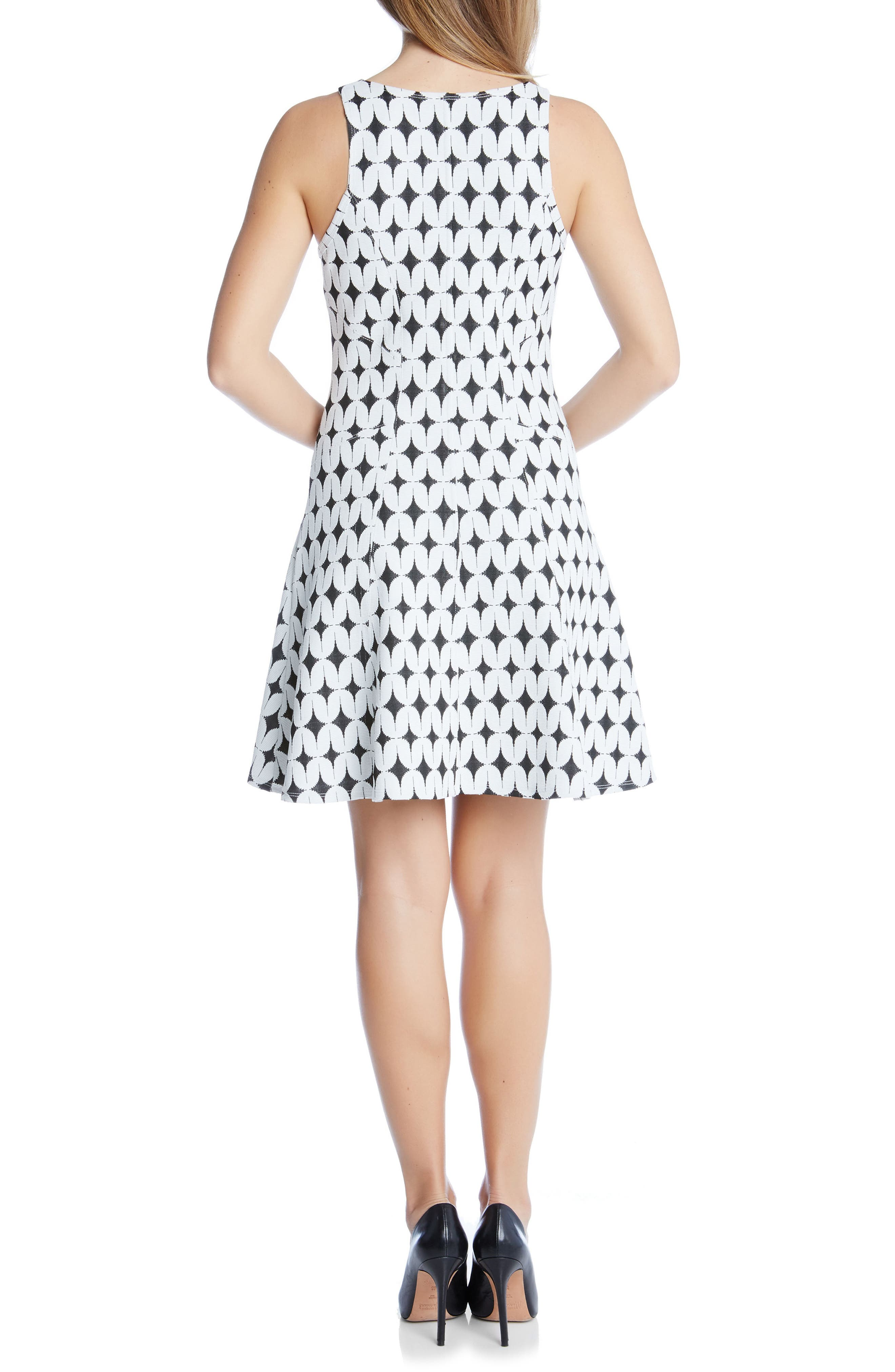 Alternate Image 2  - Karen Kane Jacquard Fit & Flare Dress