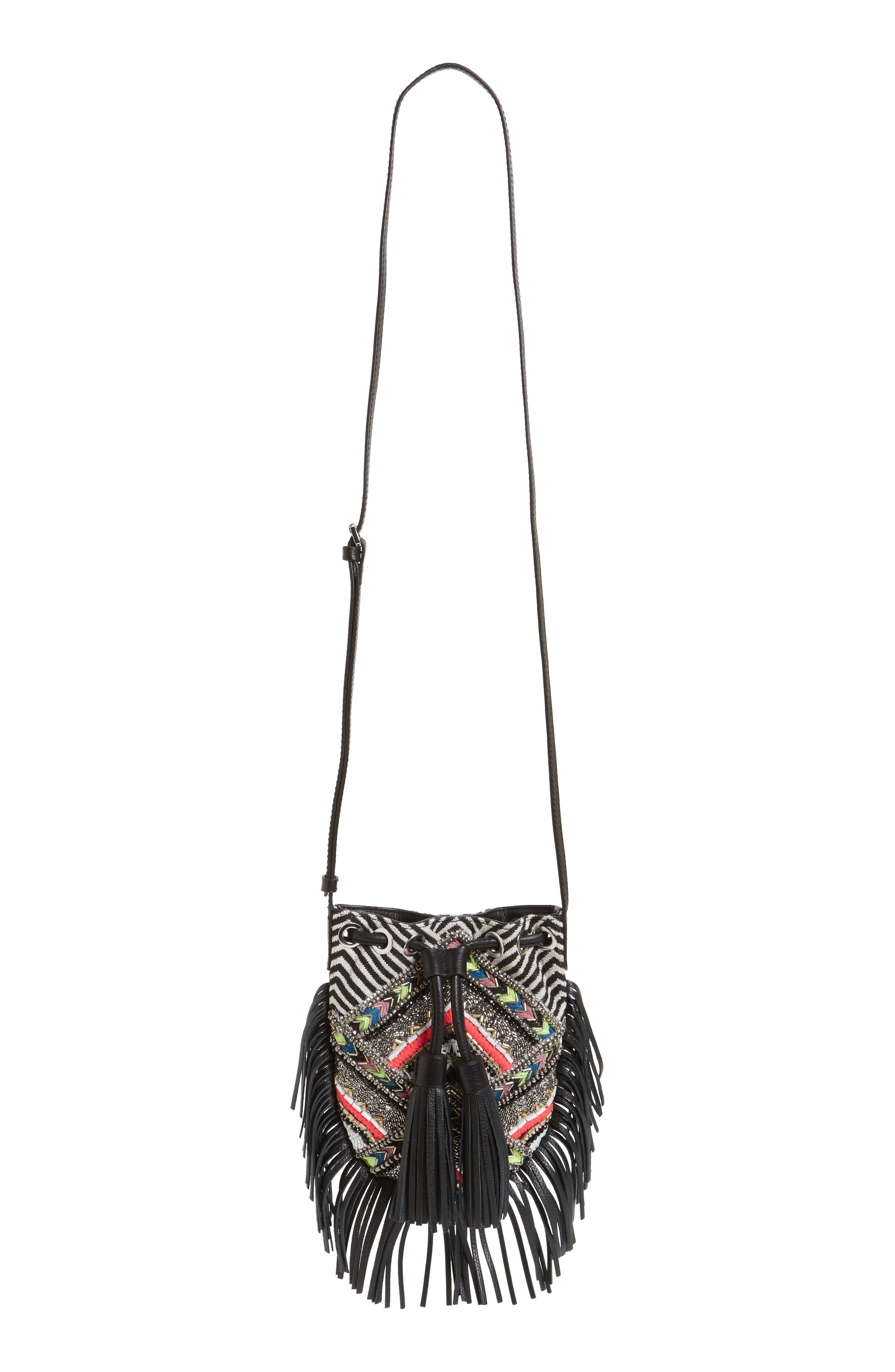 Main Image - Rebecca Minkoff Wonder Phone Canvas Crossbody Bag