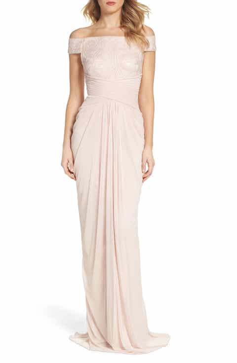 Adrianna Papell Sequin Lace   Tulle Gown