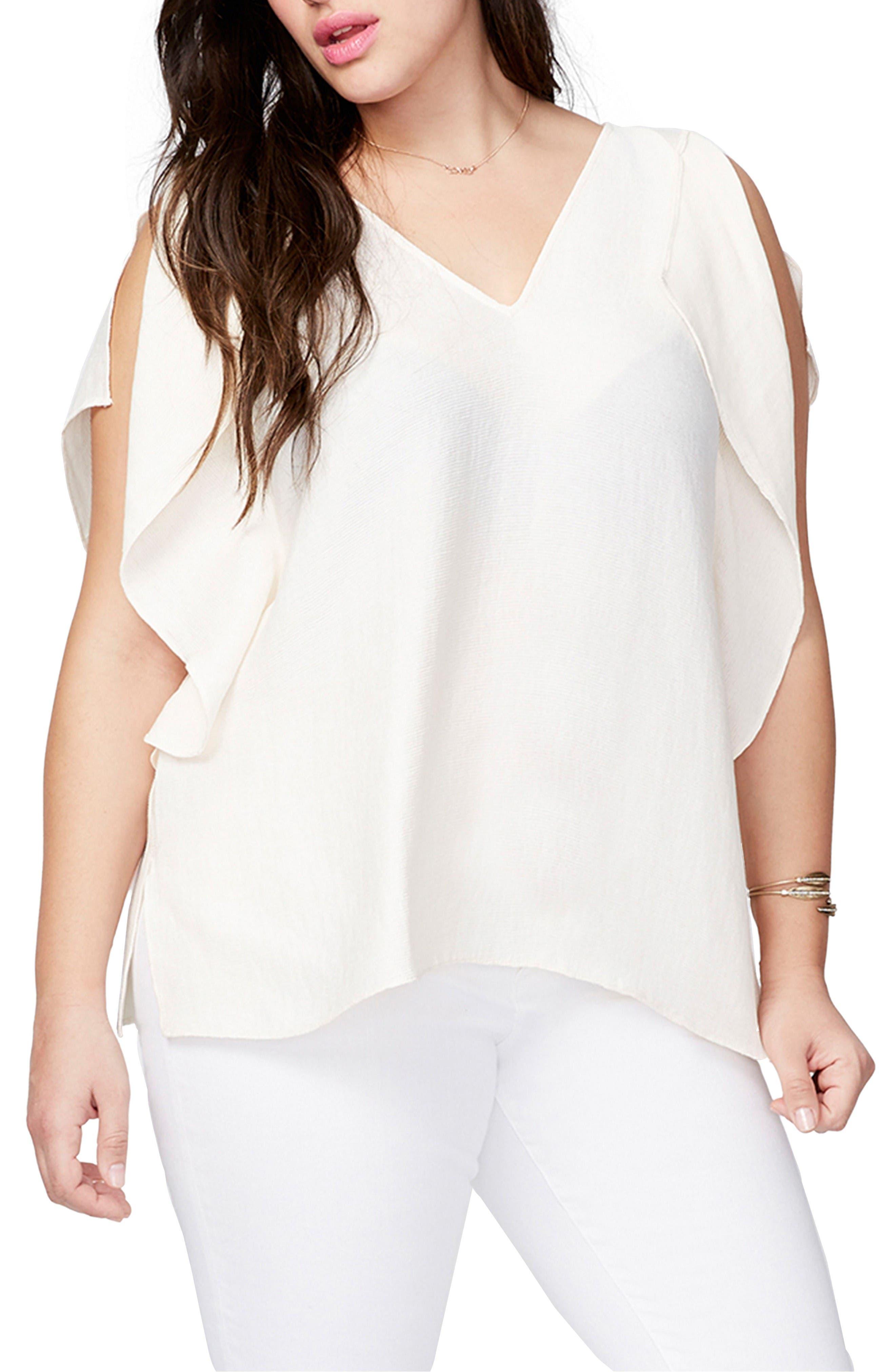 Rachel Roy Flutter Drape Top (Plus Size)