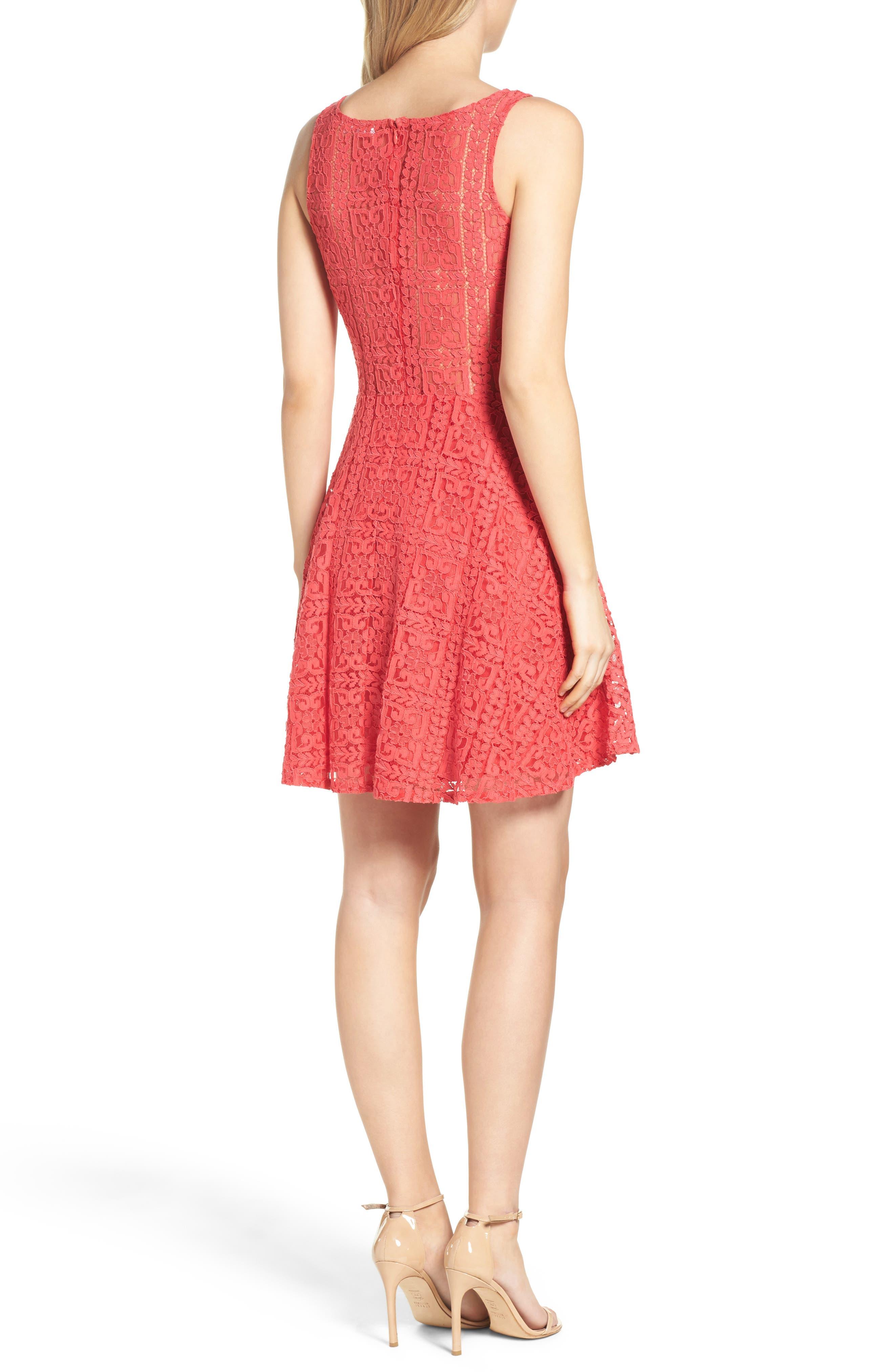 Alternate Image 2  - BB Dakota Paloma Lace Fit & Flare Dress
