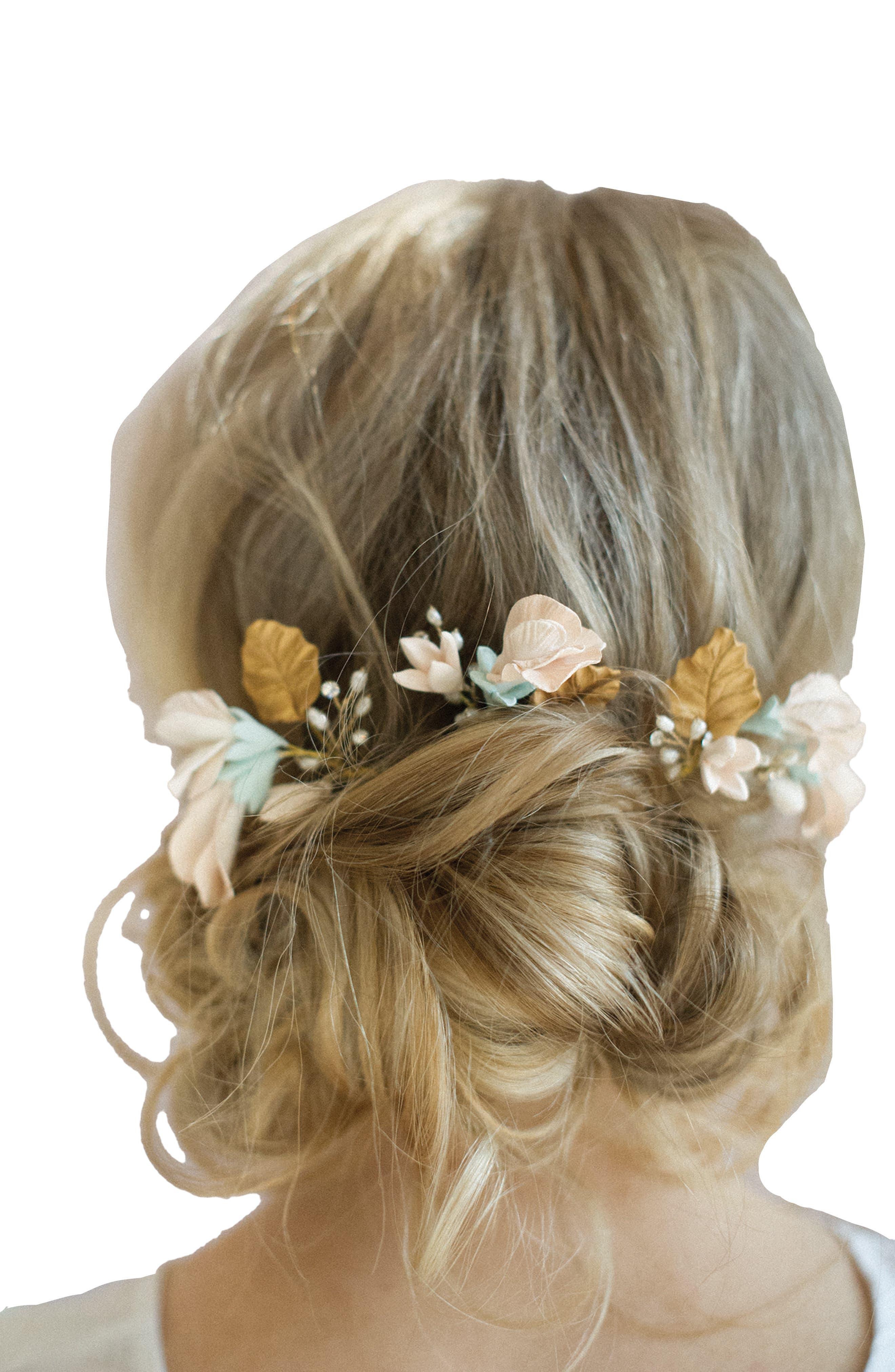 Main Image - twigs & honey Sweet Pea Set of 3 Hairpins