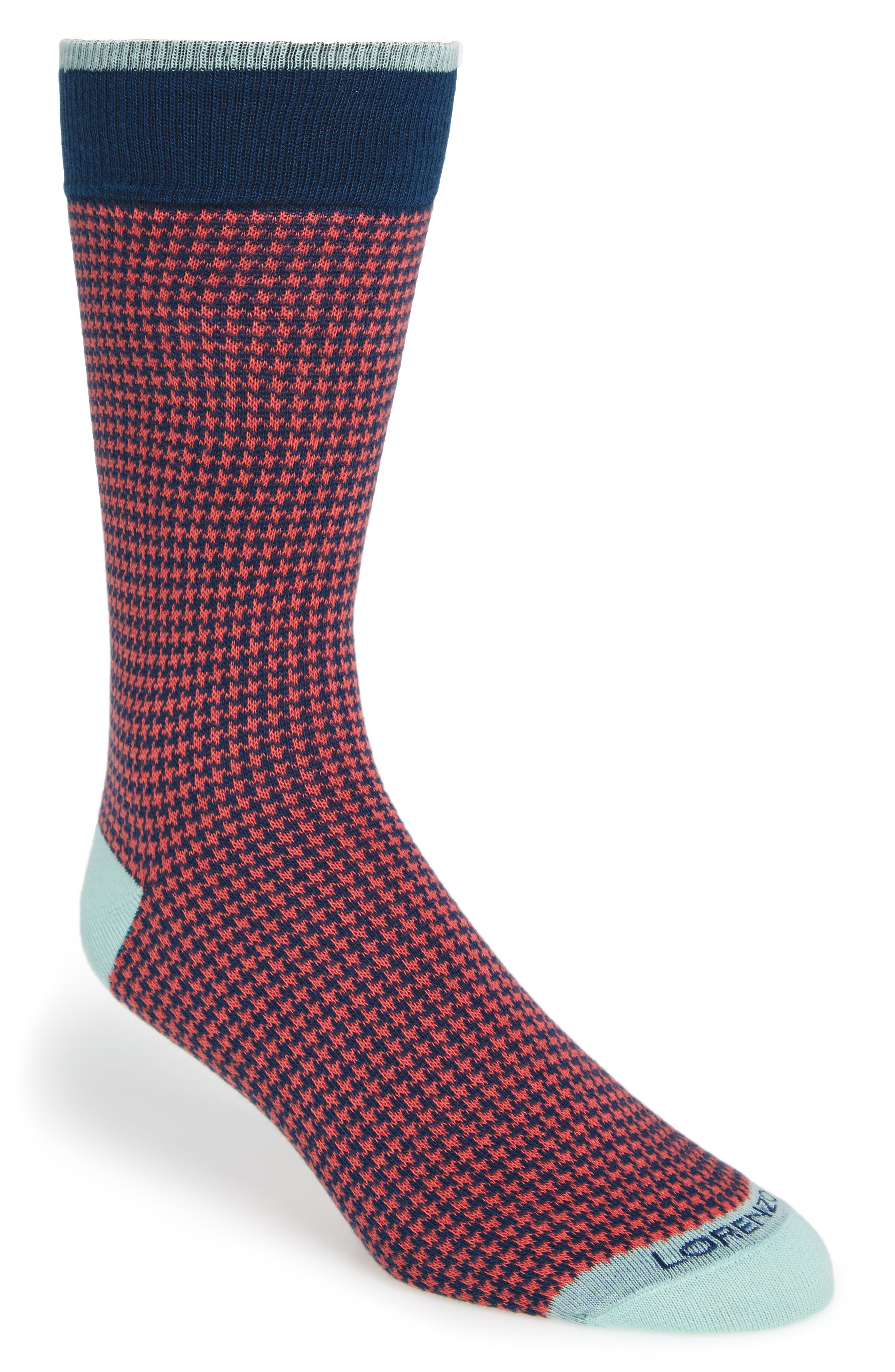 Lorenzo Uomo Houndstooth Socks (3 for $30)