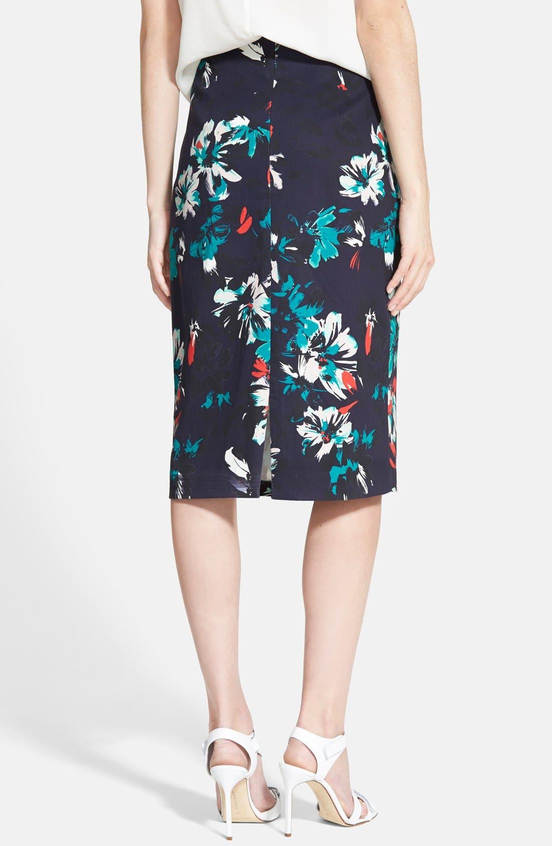 Alternate Image 2  - Chelsea28 High Waist Floral Pencil Skirt