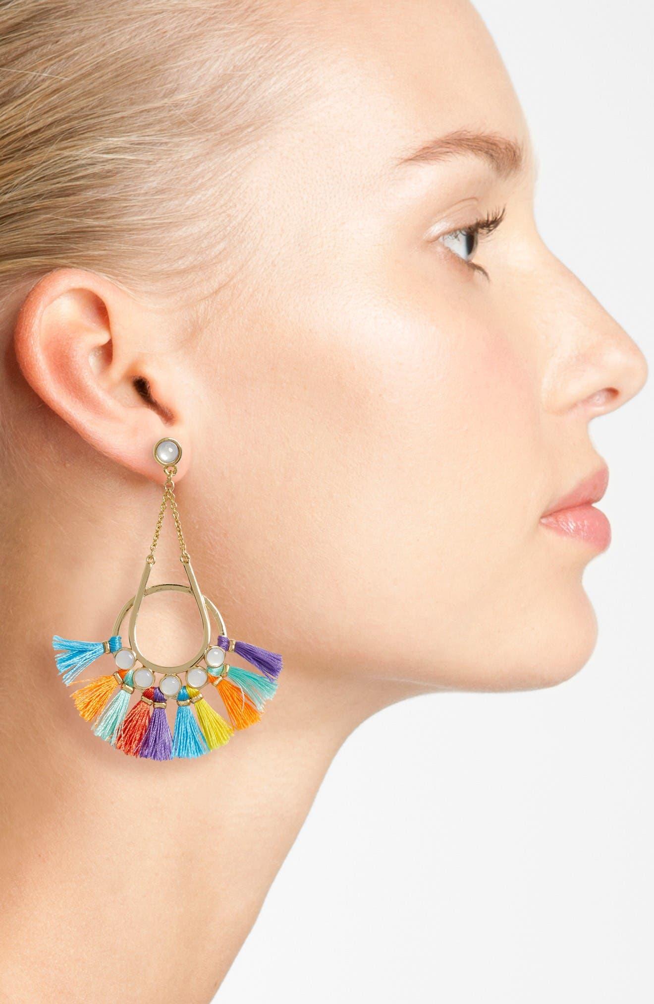 Alternate Image 2  - Rebecca Minkoff Utopia Tassel Chandelier Earrings