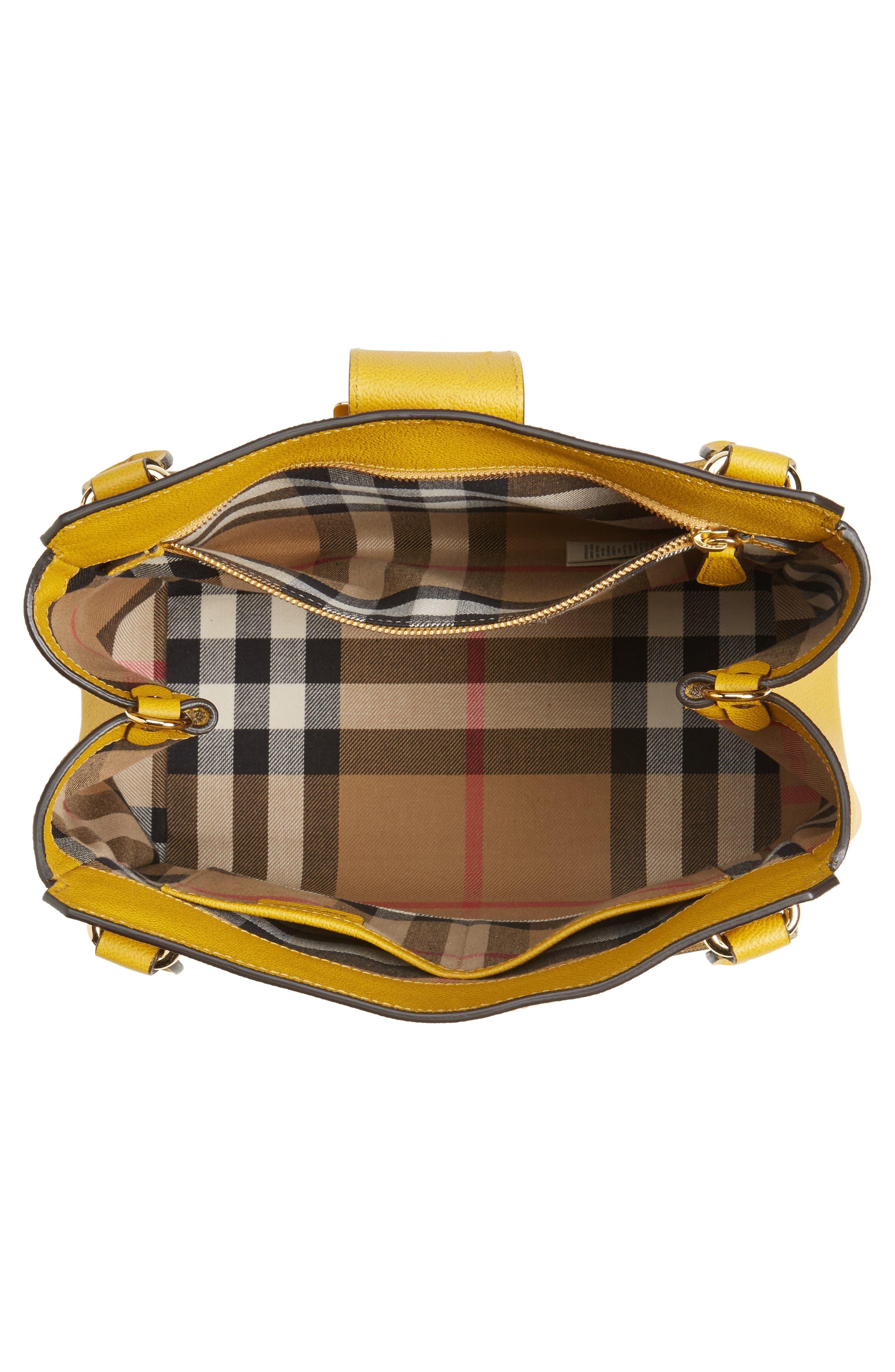 Alternate Image 4  - Burberry Medium Calfskin Leather Tote