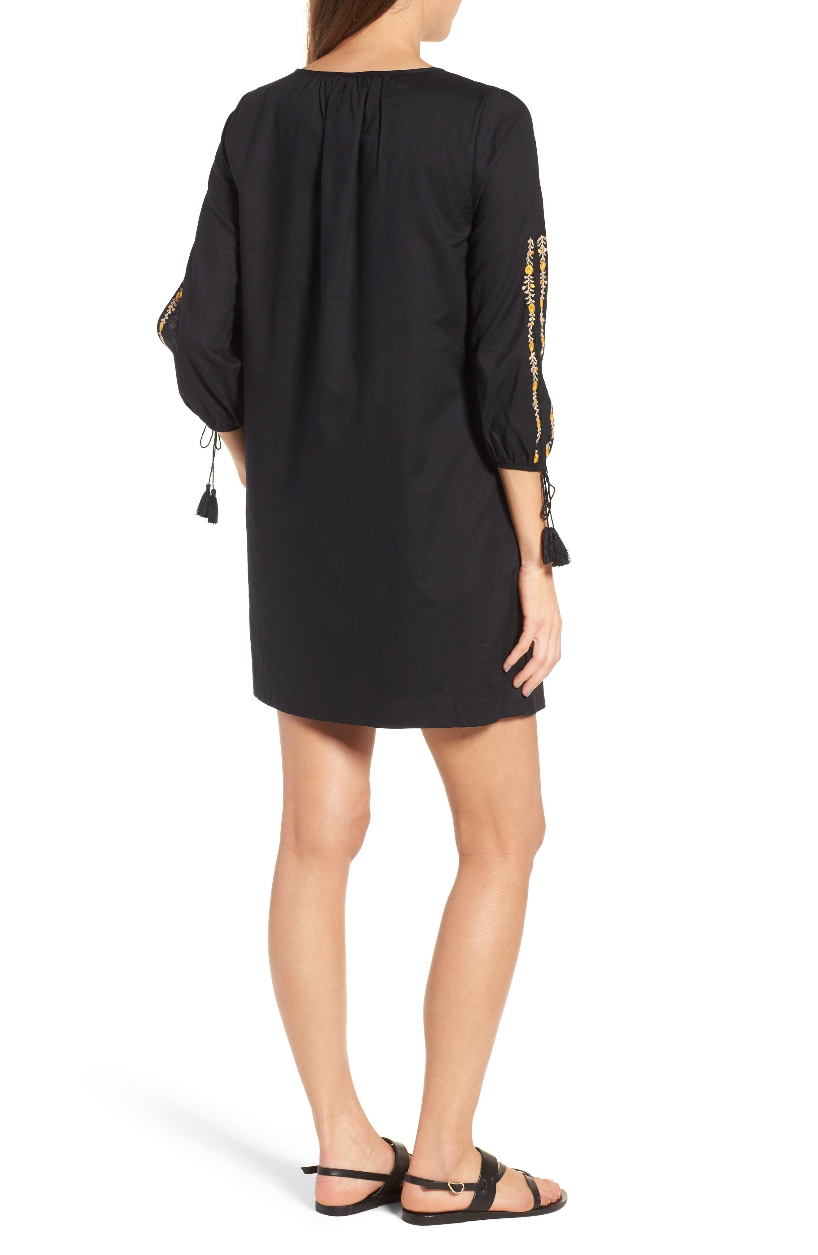 Alternate Image 2  - Madewell Embroidered Slit Sleeve Dress