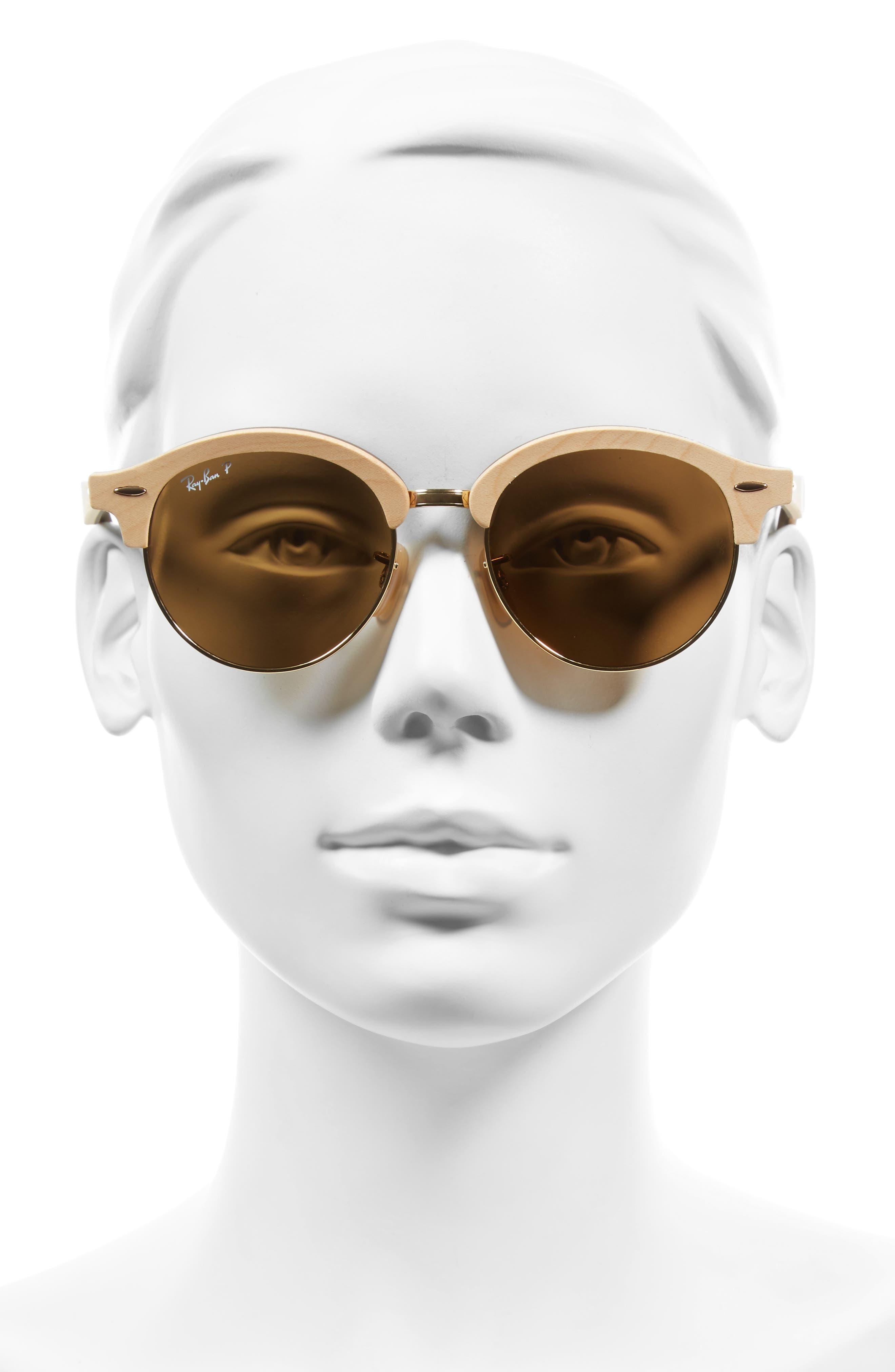 Alternate Image 2  - Ray-Ban 51mm Polarized Round Sunglasses