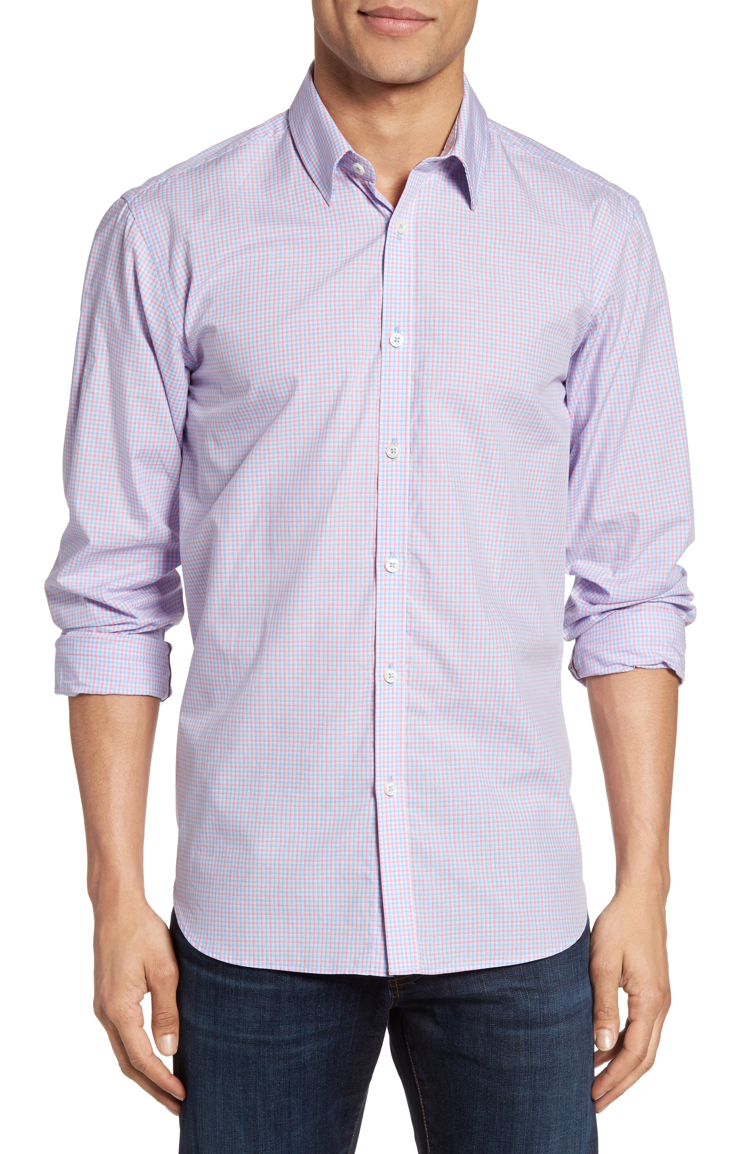 Jeremy Argyle Fitted Mini Check Sport Shirt