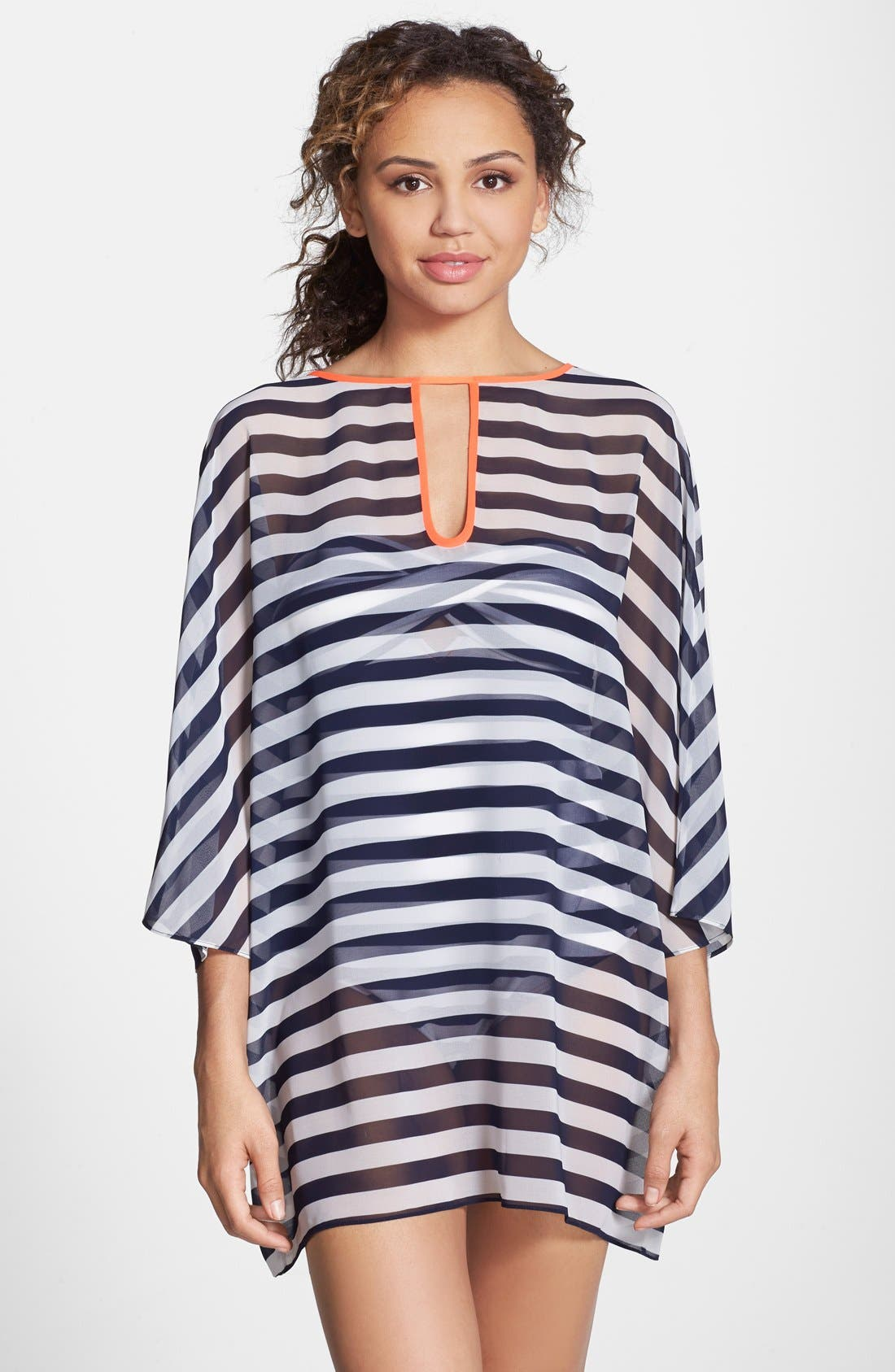 Alternate Image 1 Selected - Ted Baker London Stripe Cover-Up Tunic