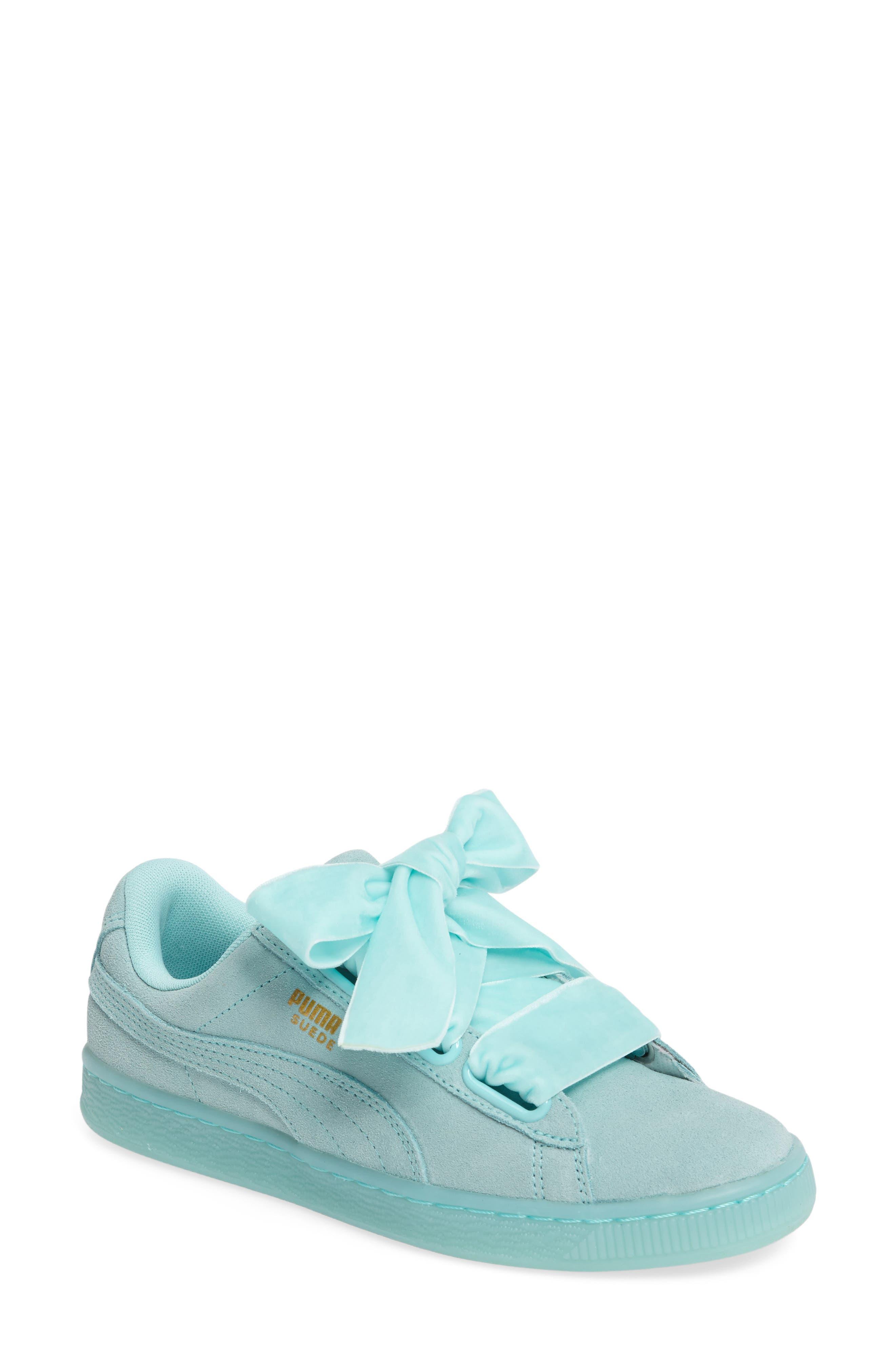 Alternate Image 1 Selected - PUMA Suede - Heart Sneaker (Women)