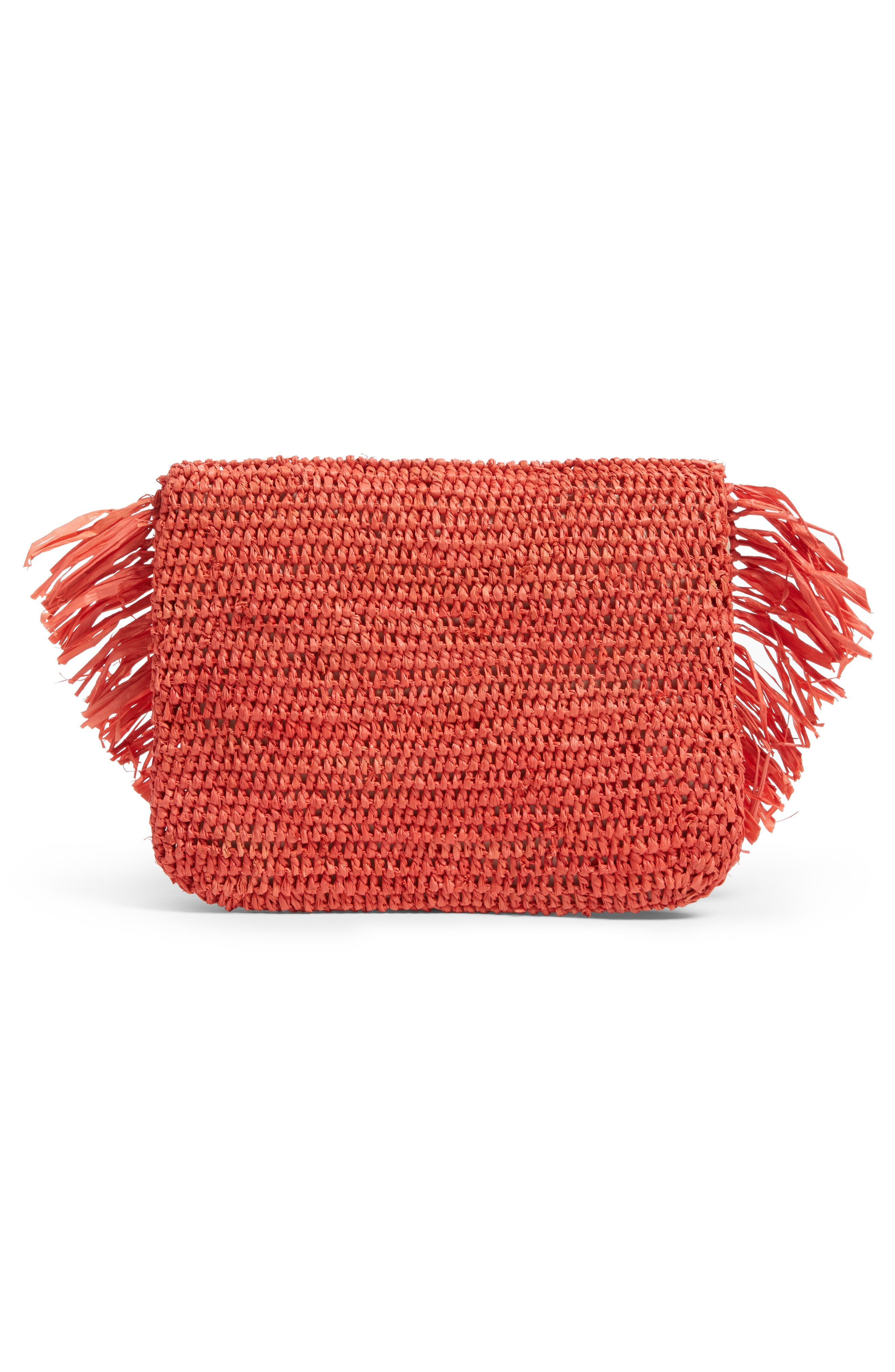 Alternate Image 3  - Mar y Sol Mia Woven Raffia Clutch