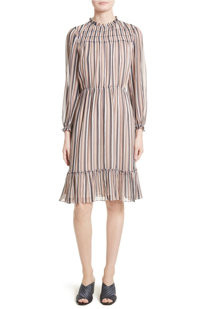Derek lam 10 crosby stripe ruffle dress nordstrom for Derek lam 10 crosby shirt dress